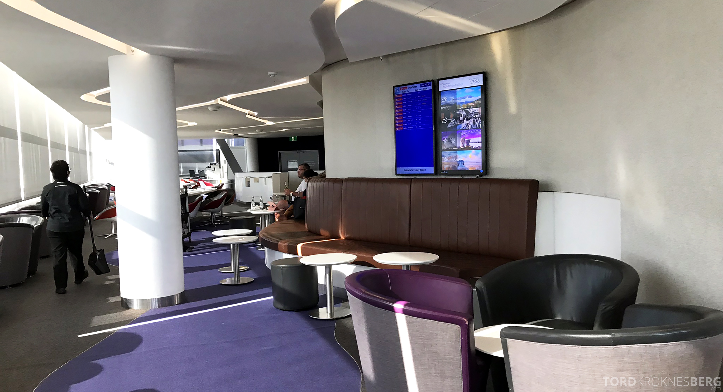 Virgin Australia Lounge Sydney sitteplass