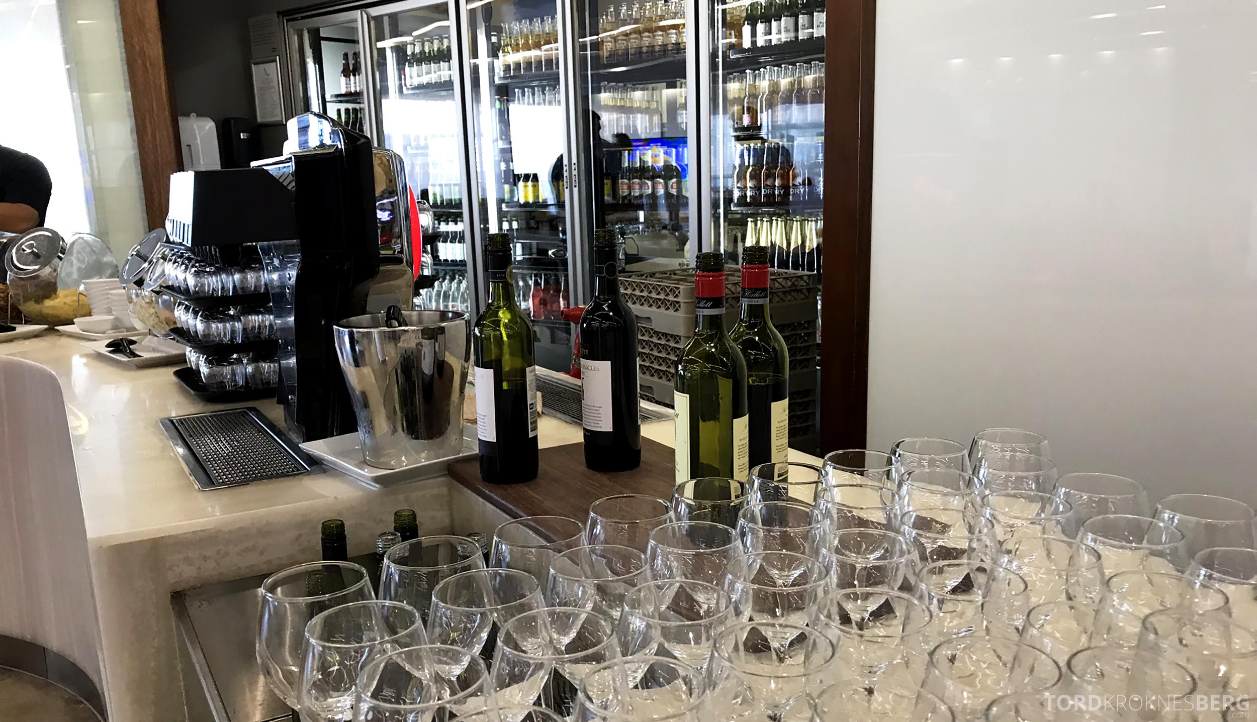 Virgin Australia Lounge Sydney vin