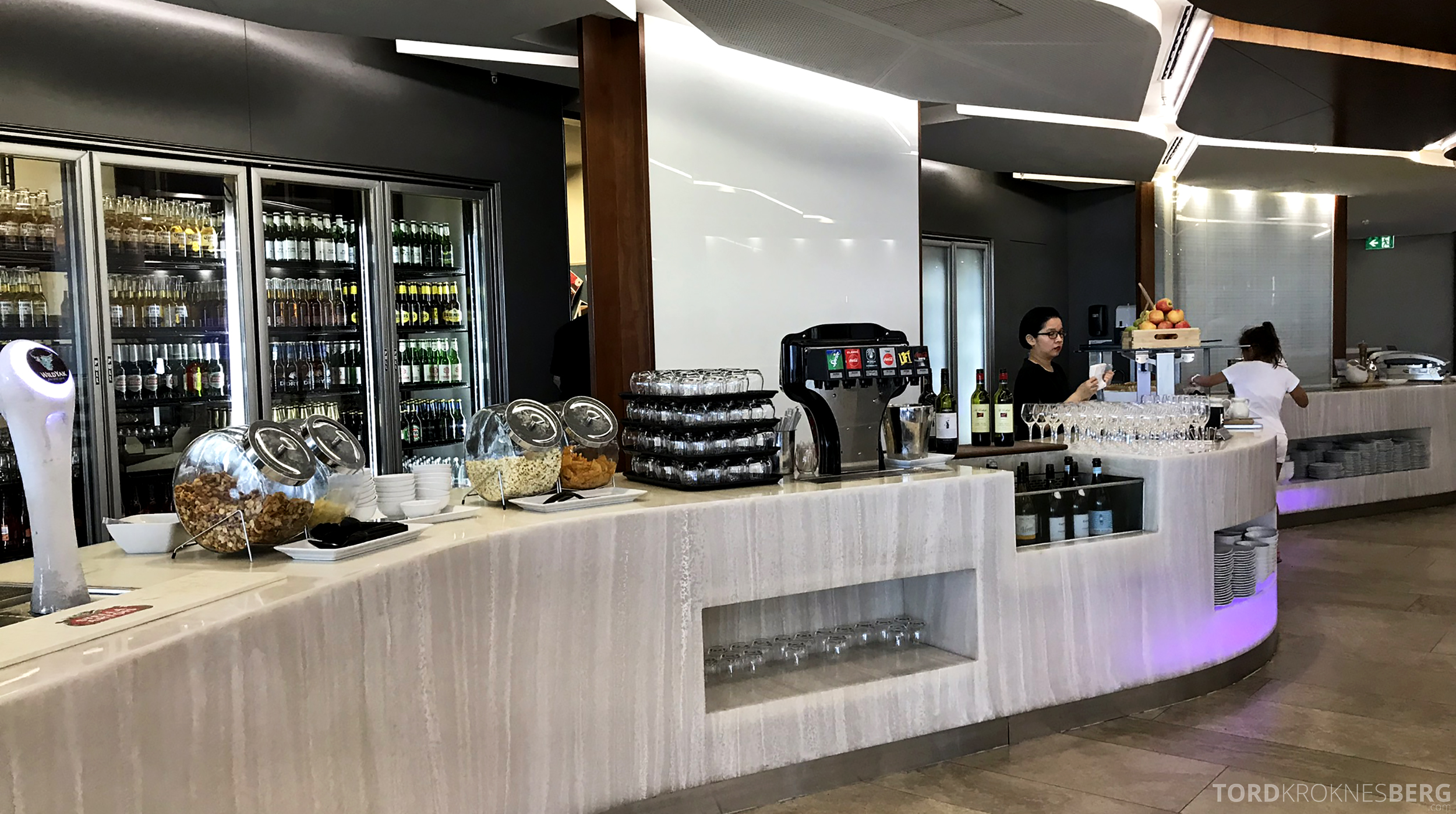 Virgin Australia Lounge Sydney buffet