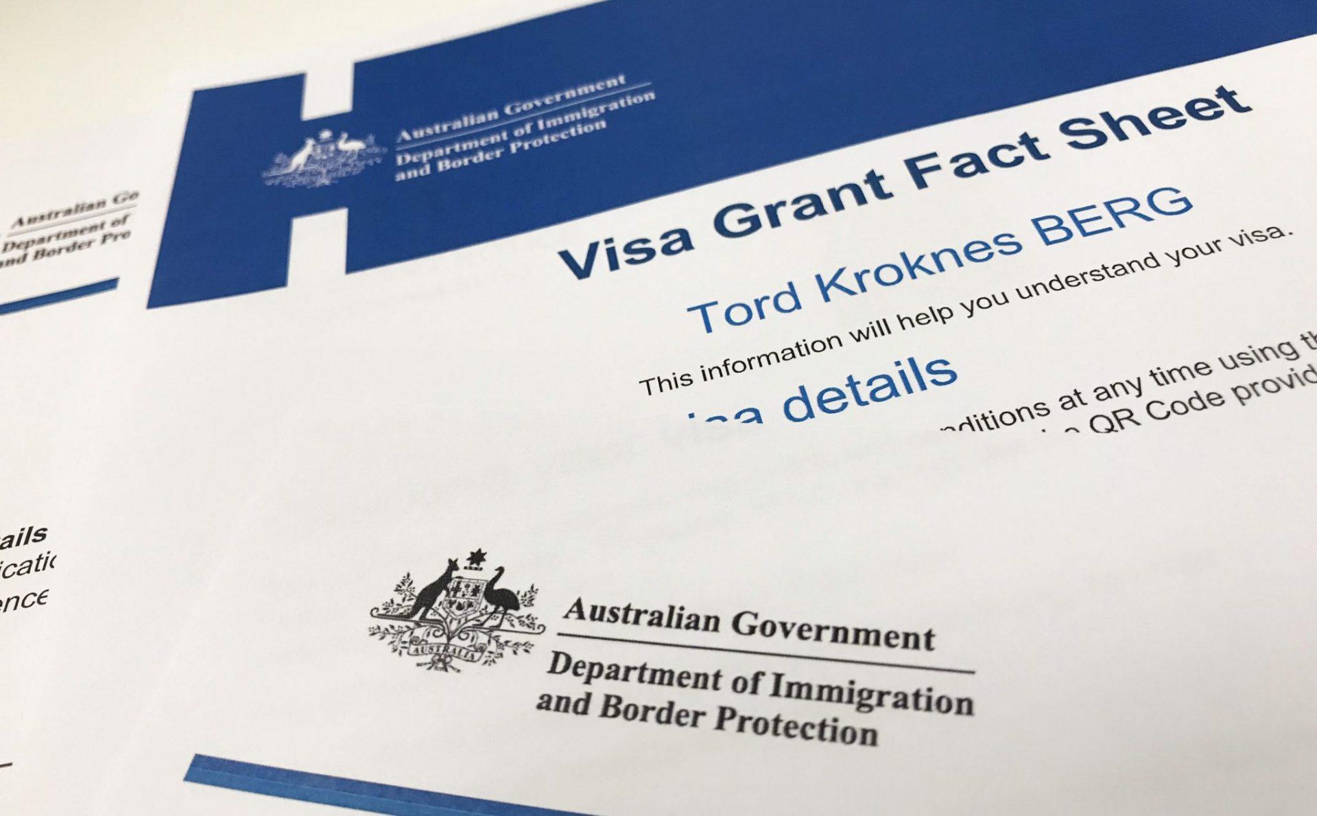 Visum til Australia