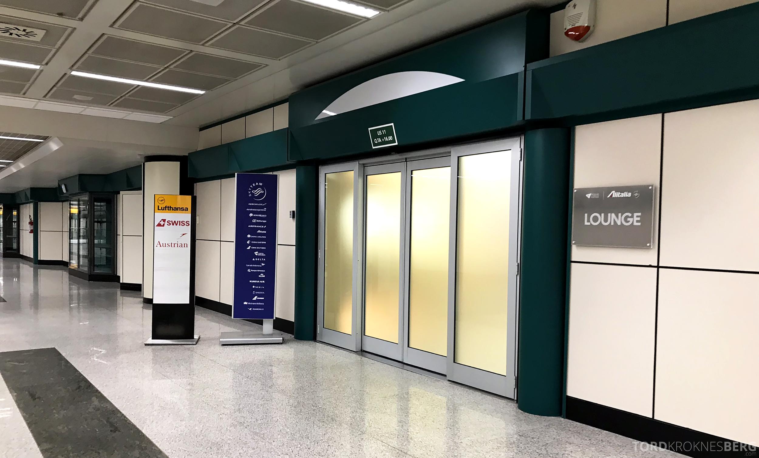 Alitalia Lounge Roma inngang