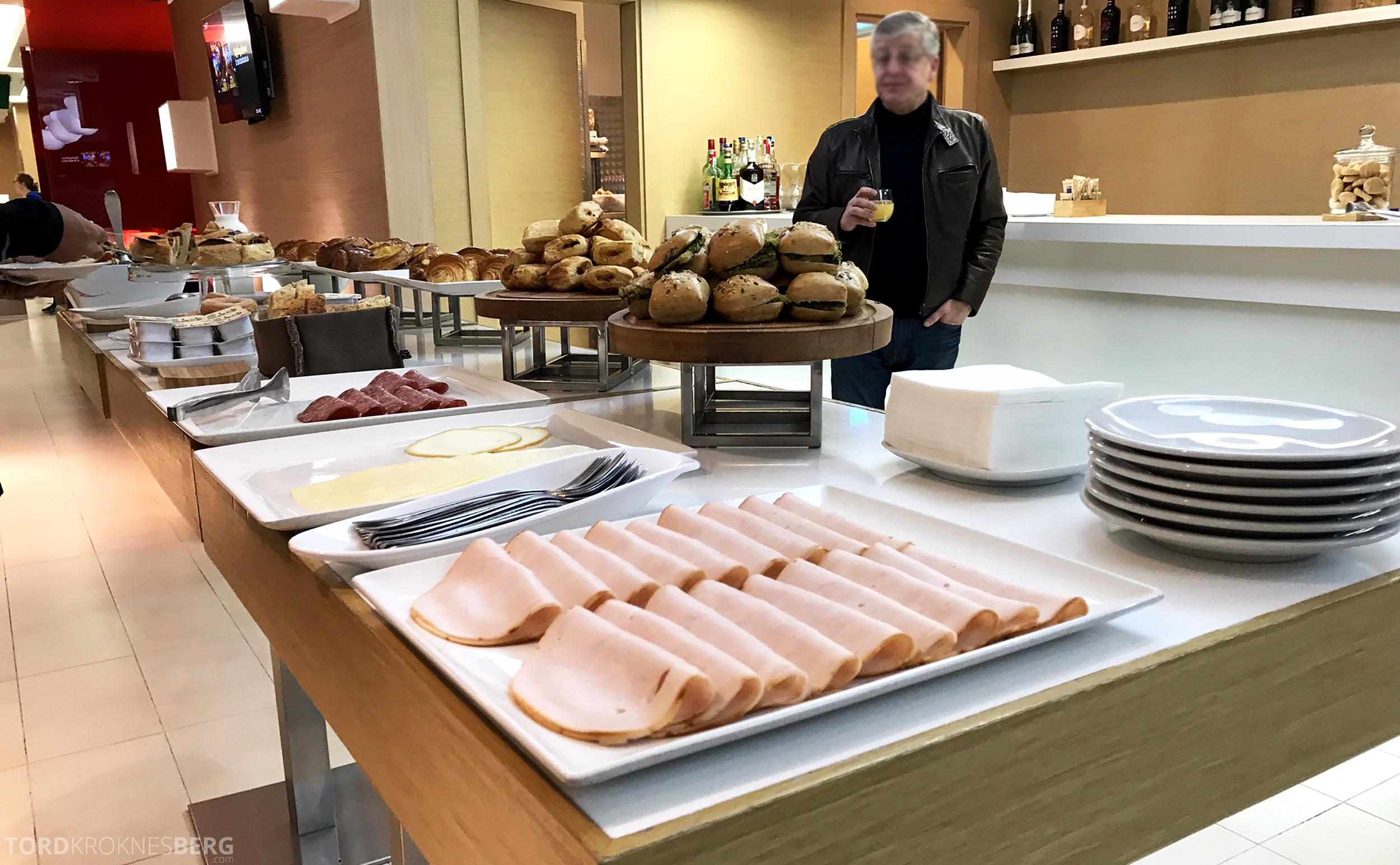 Alitalia Lounge Roma pålegg