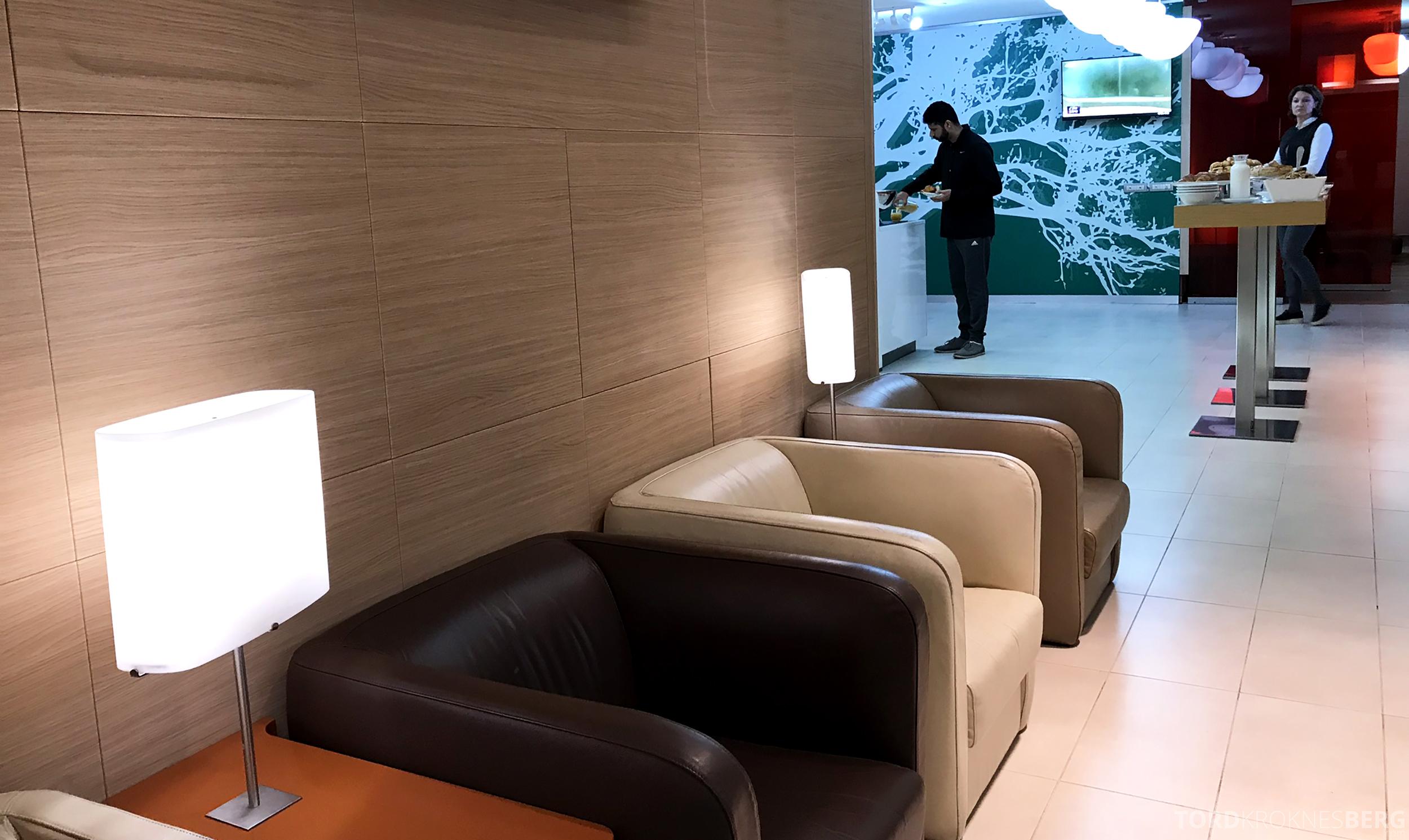 Alitalia Lounge Roma skinnstoler