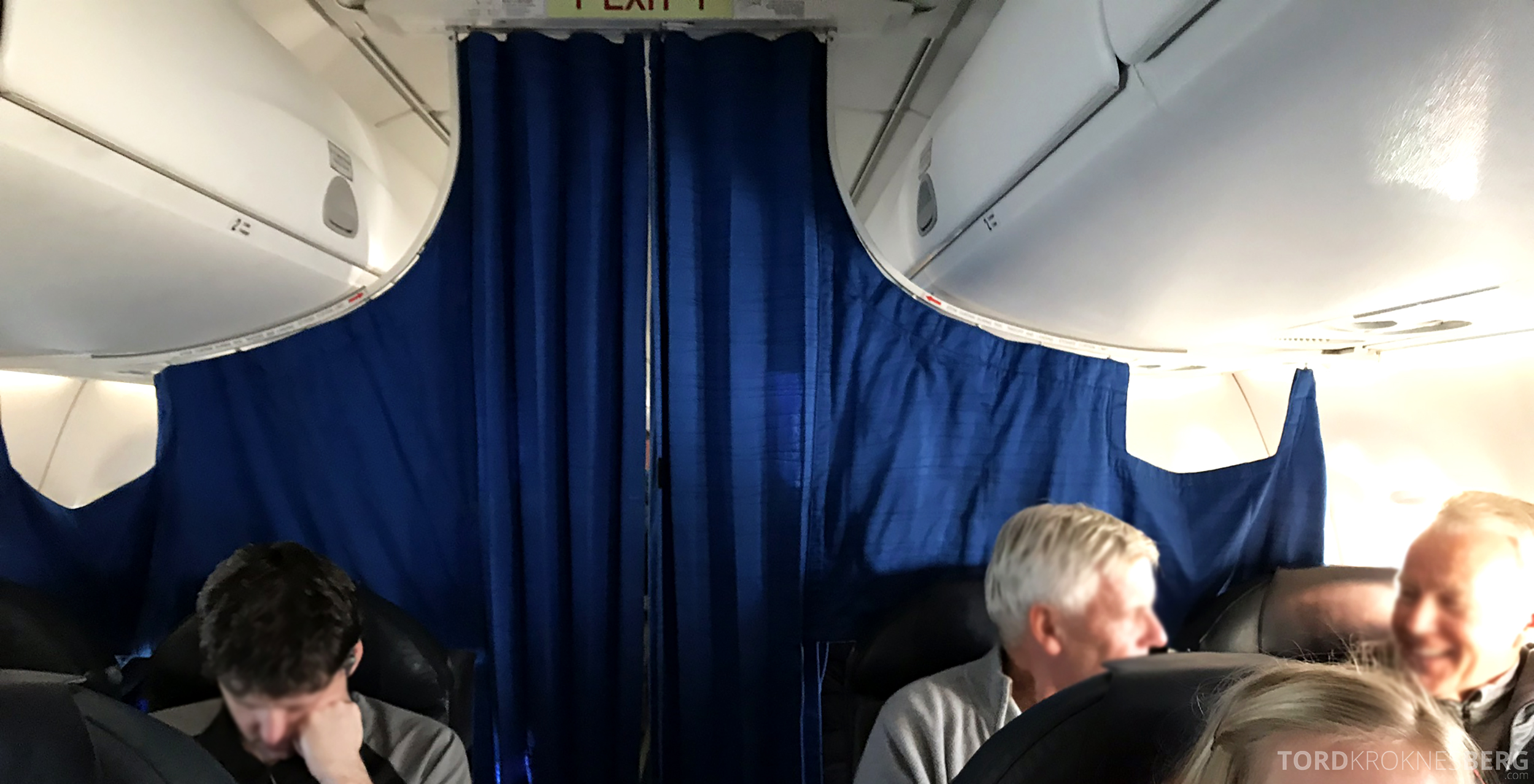 KLM Business Class Amsterdam Trondheim forheng