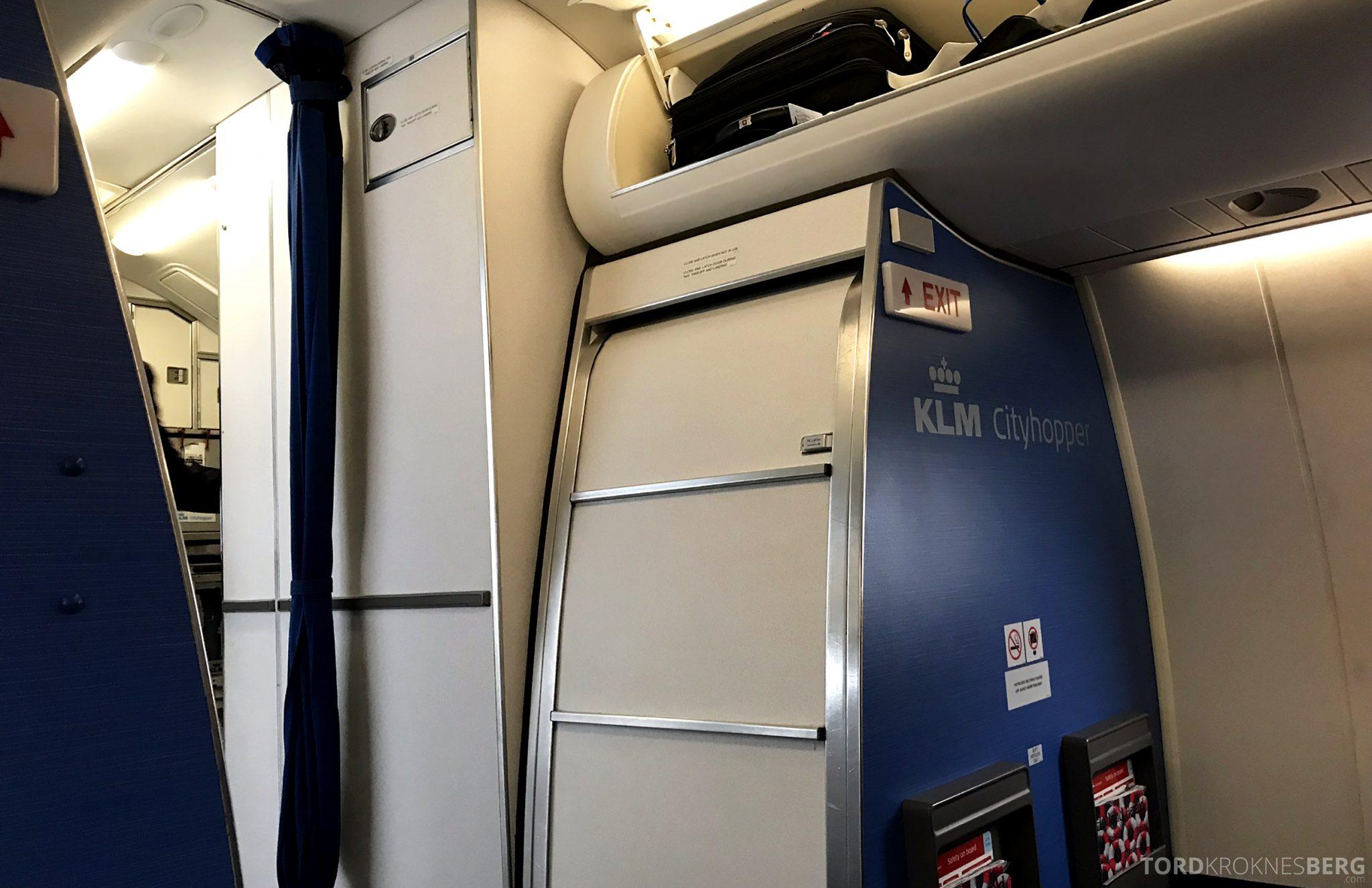 KLM Business Class Amsterdam Trondheim kabin