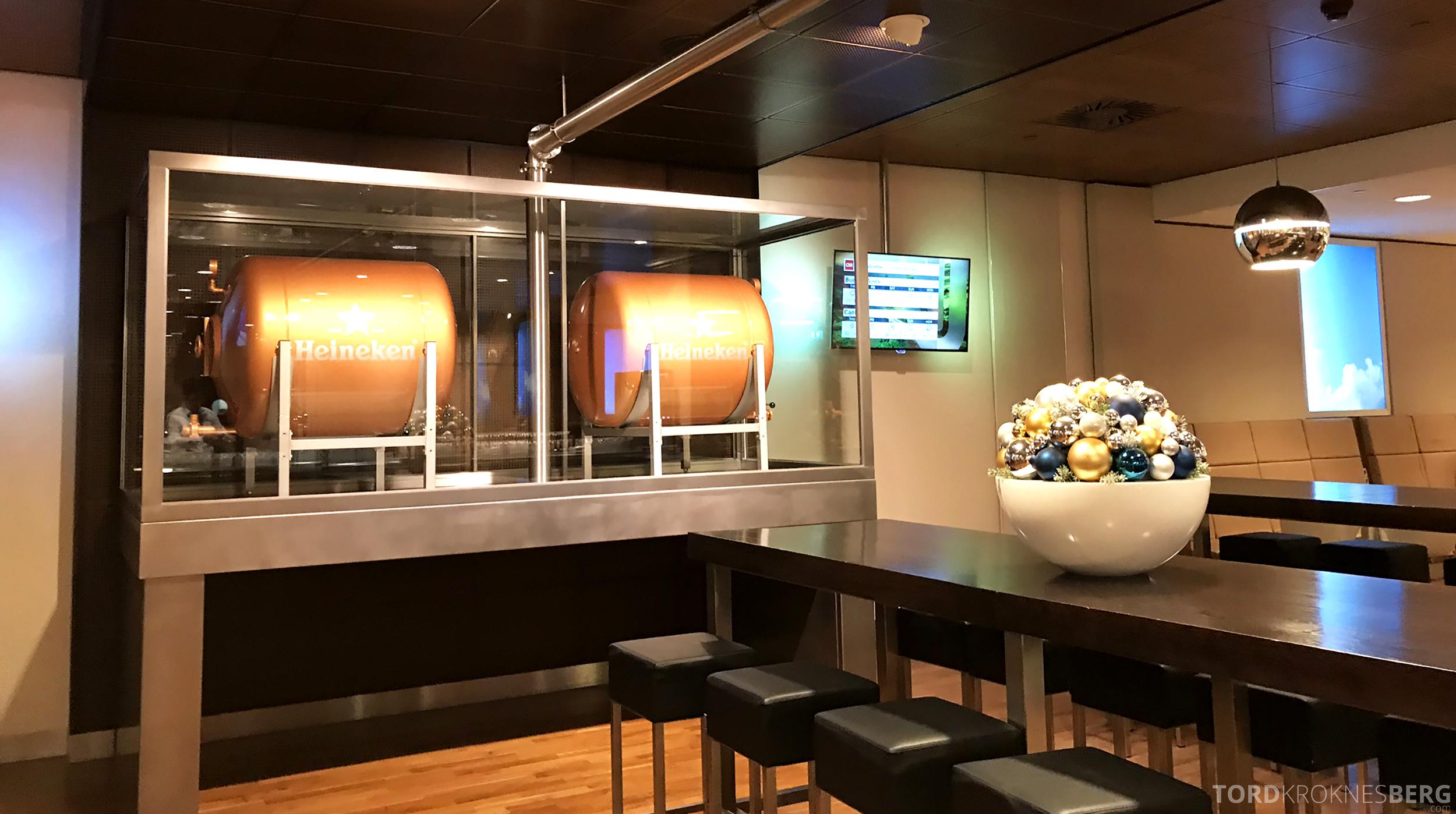 KLM Crown Lounge Schiphol Amsterdam øl
