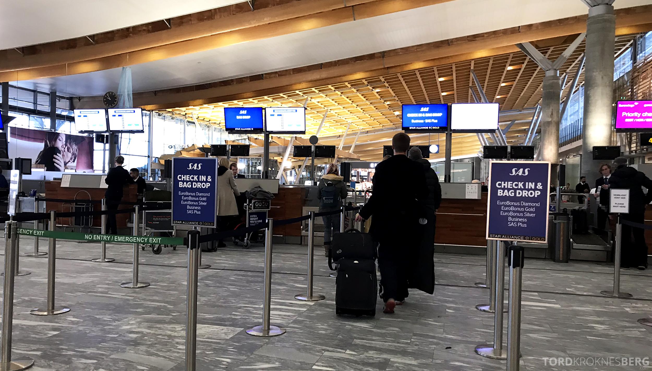 Lufthansa Business Class Oslo Rome innsjekk