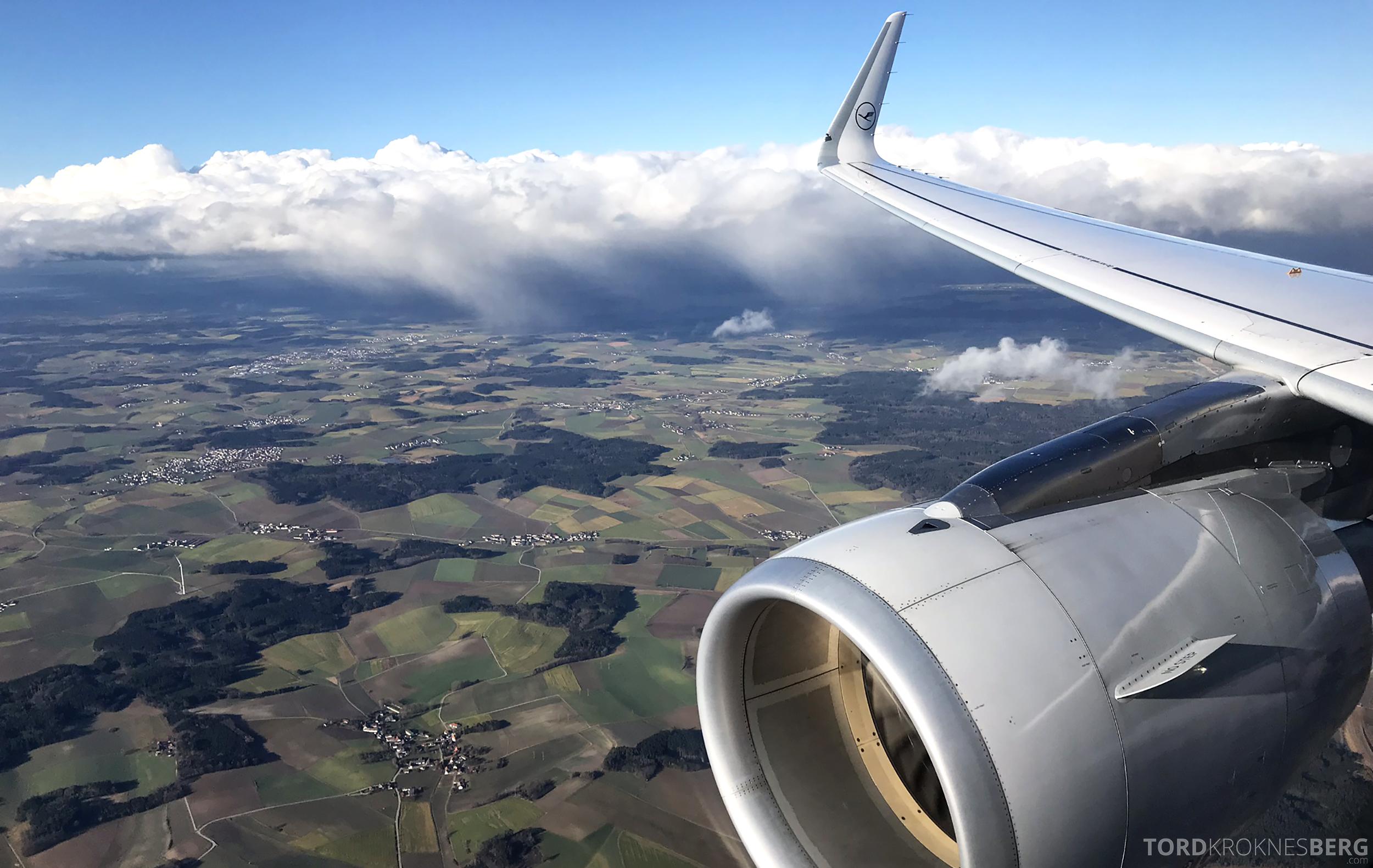 Lufthansa Business Class Oslo Rome landing