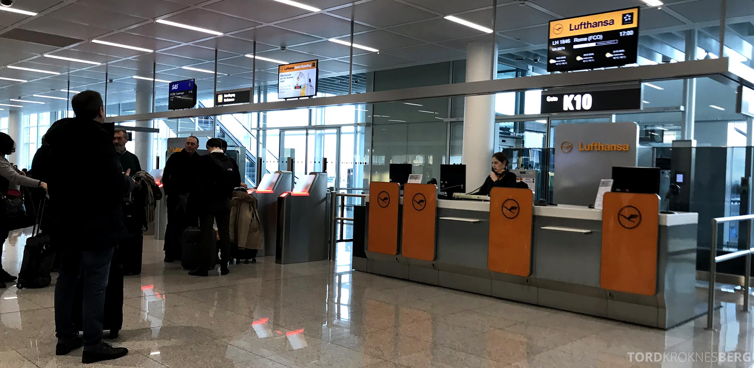 Lufthansa Business Class Oslo Rome gate München
