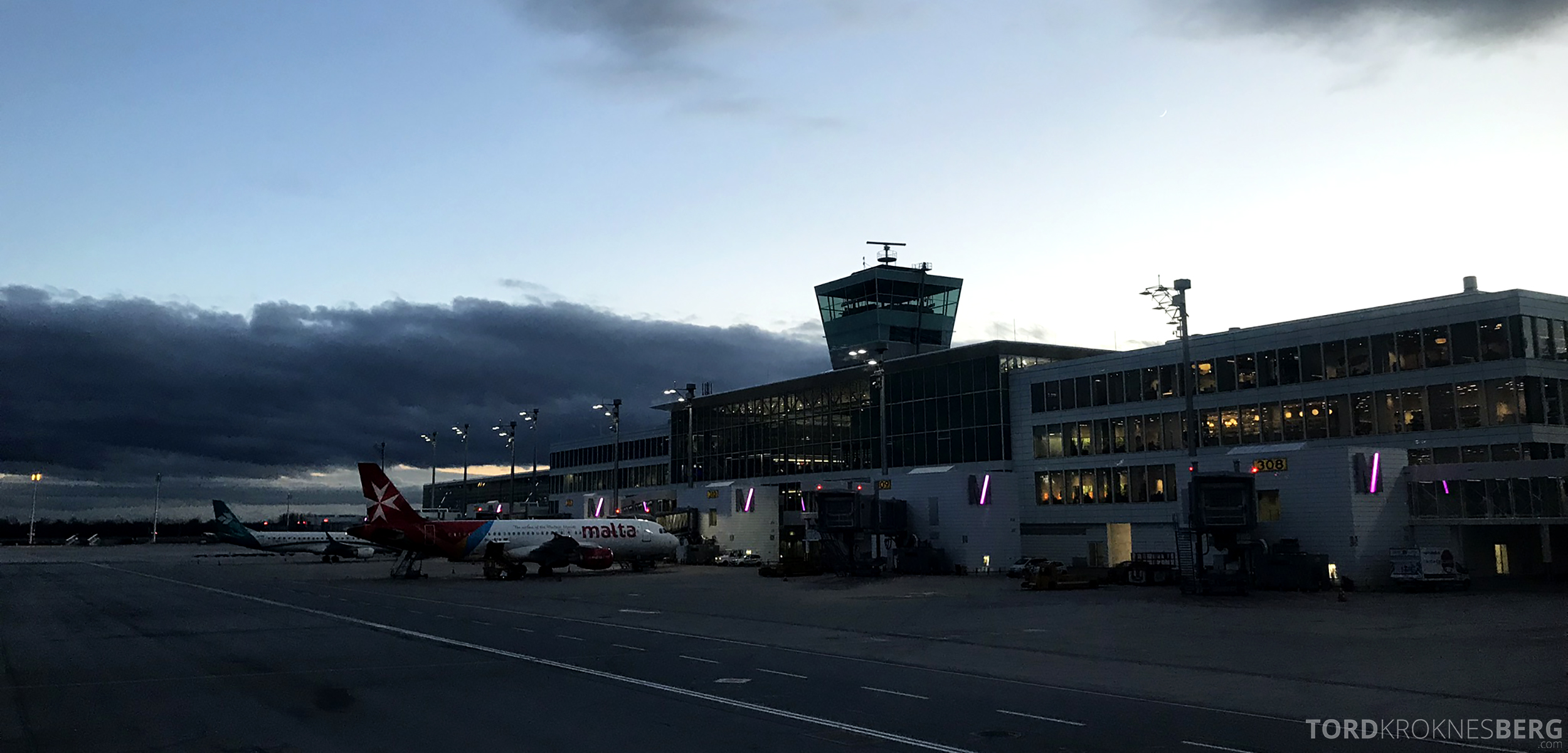 Lufthansa Business Class Oslo Rome adjø