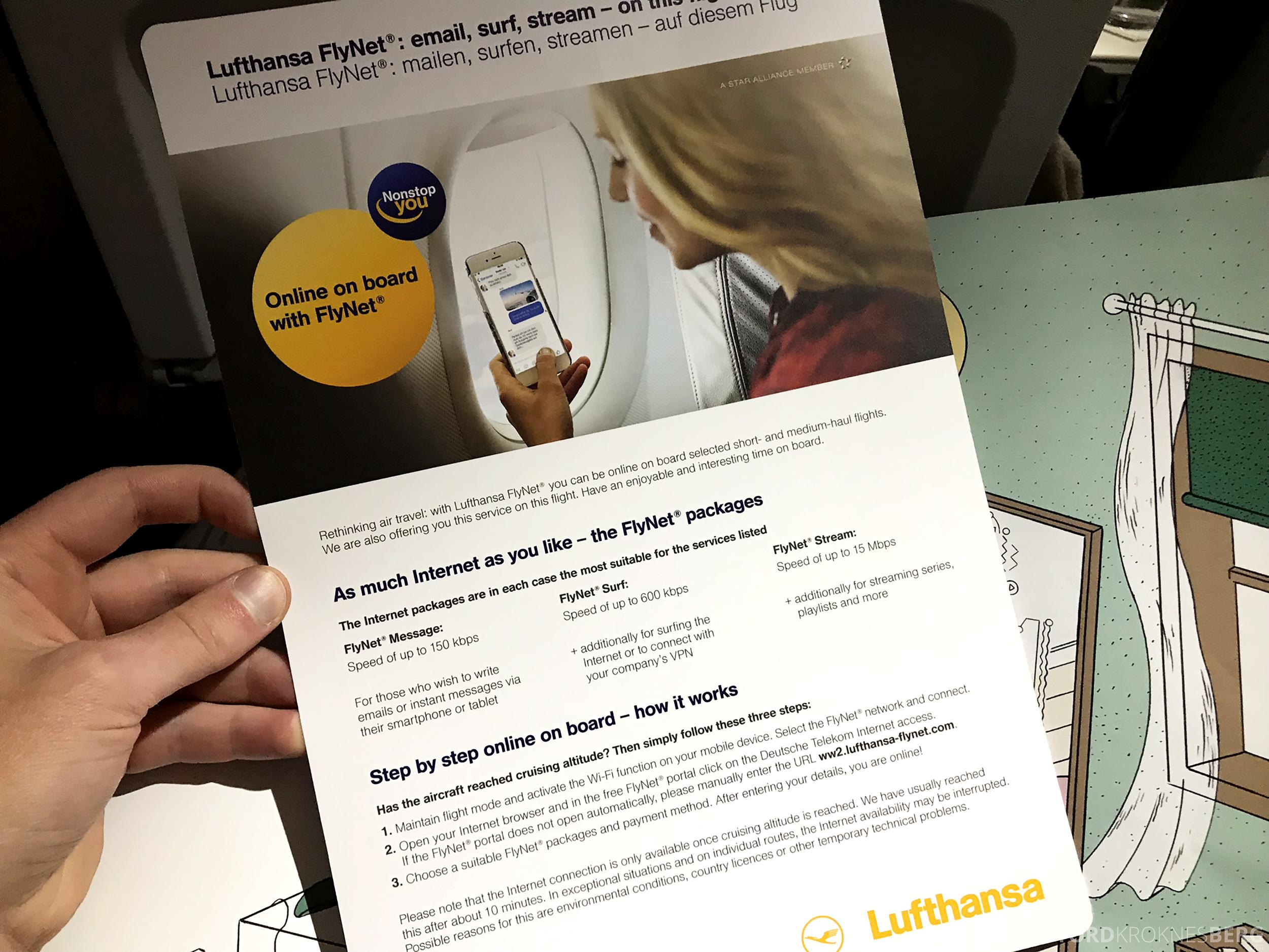 Lufthansa Business Class Oslo Rome Wi-Fi