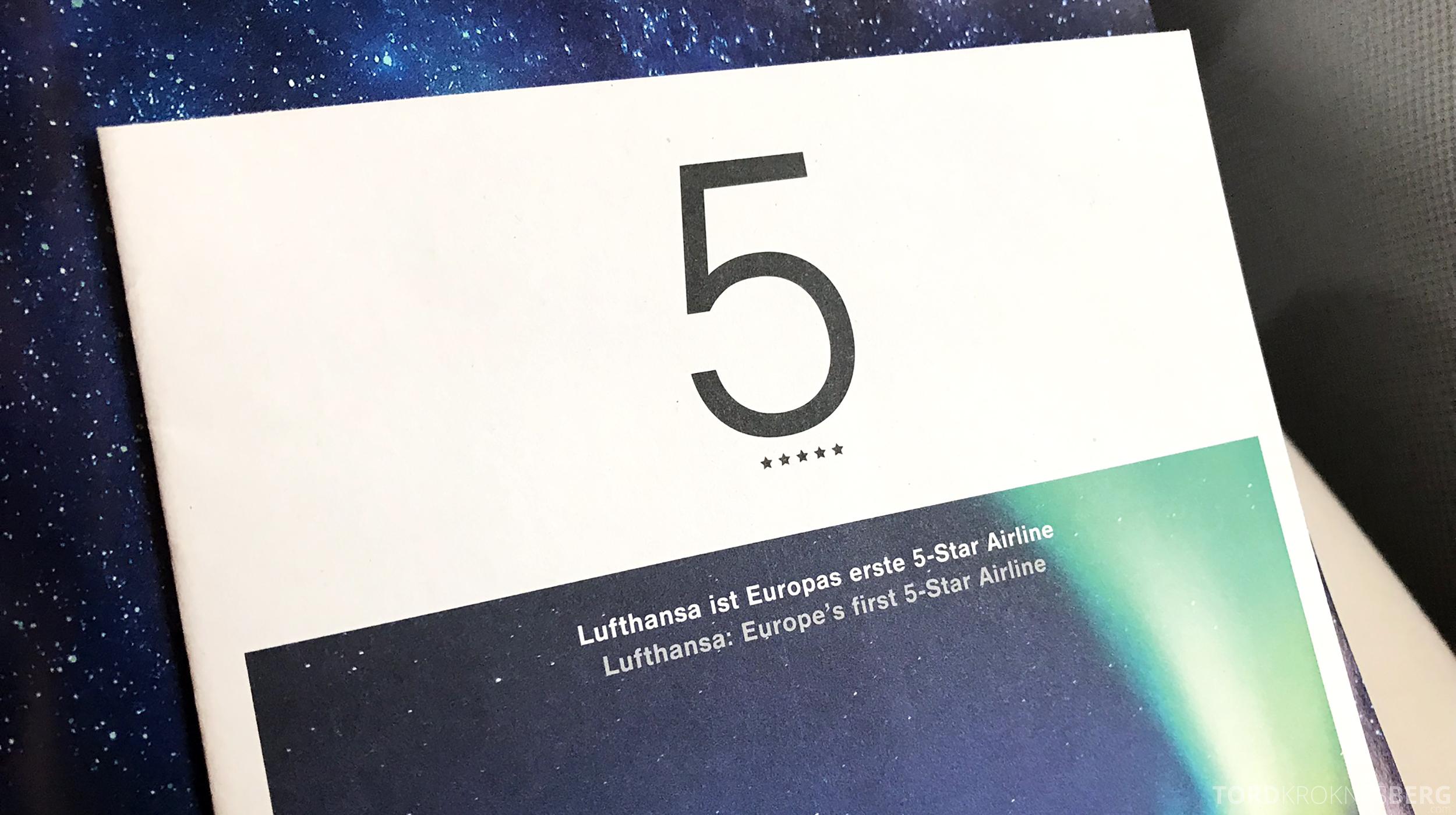 Lufthansa Business Class Oslo Rome fem stjerner