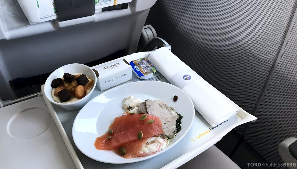 Lufthansa Business Class Oslo Rome mat