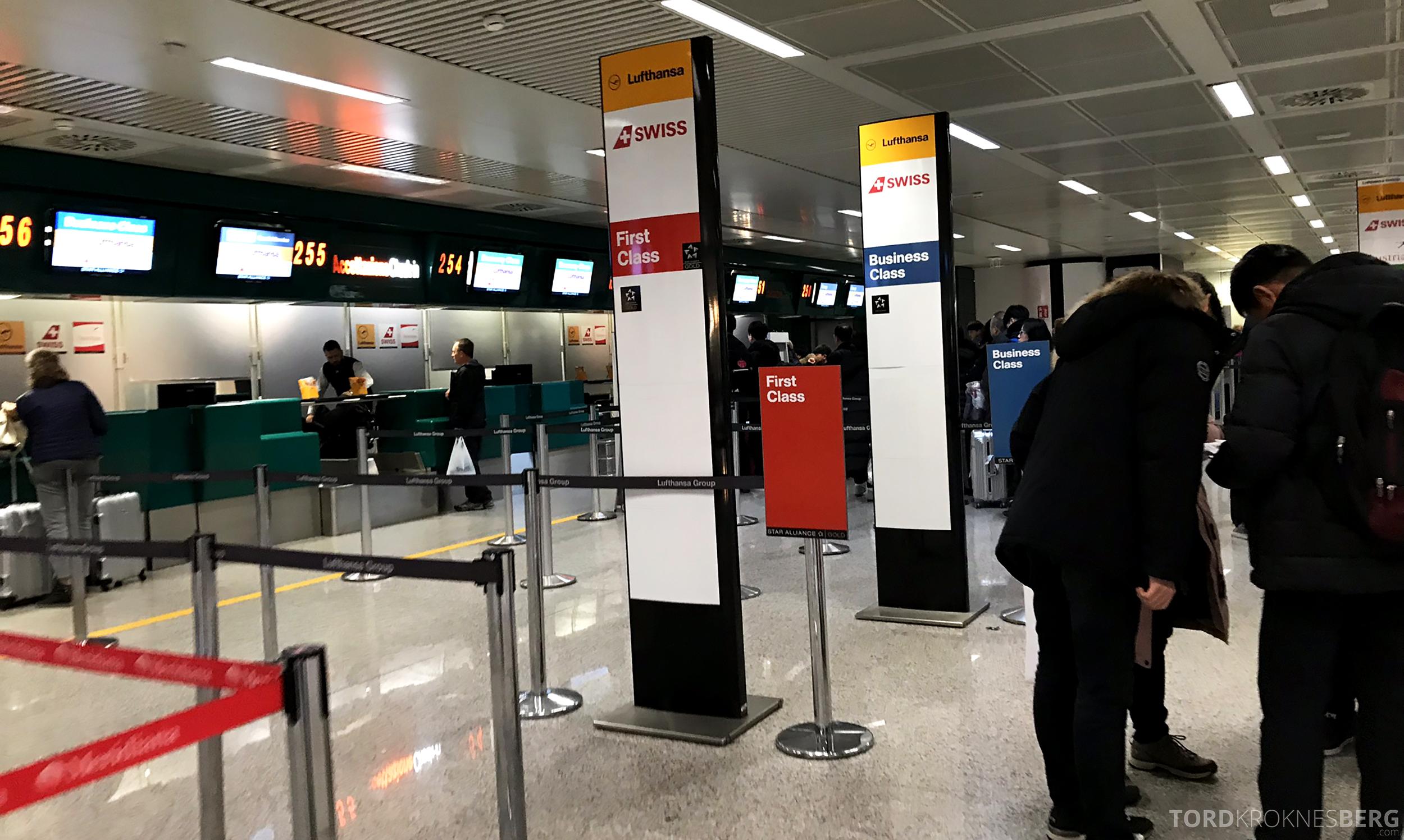 Lufthansa Business Class Rome Frankfurt Oslo check in