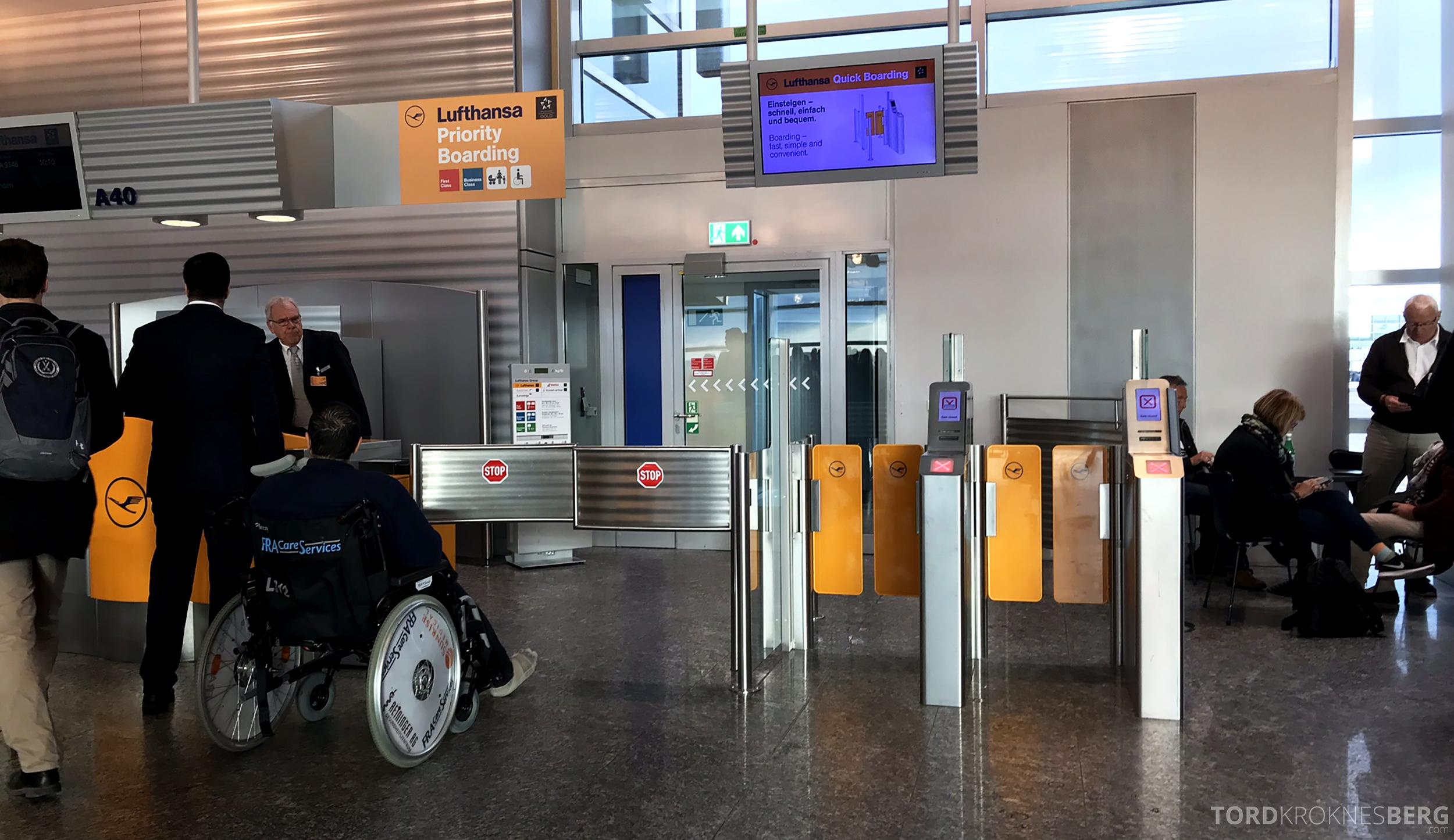 Lufthansa Business Class Rome Frankfurt Oslo gate Frankfurt