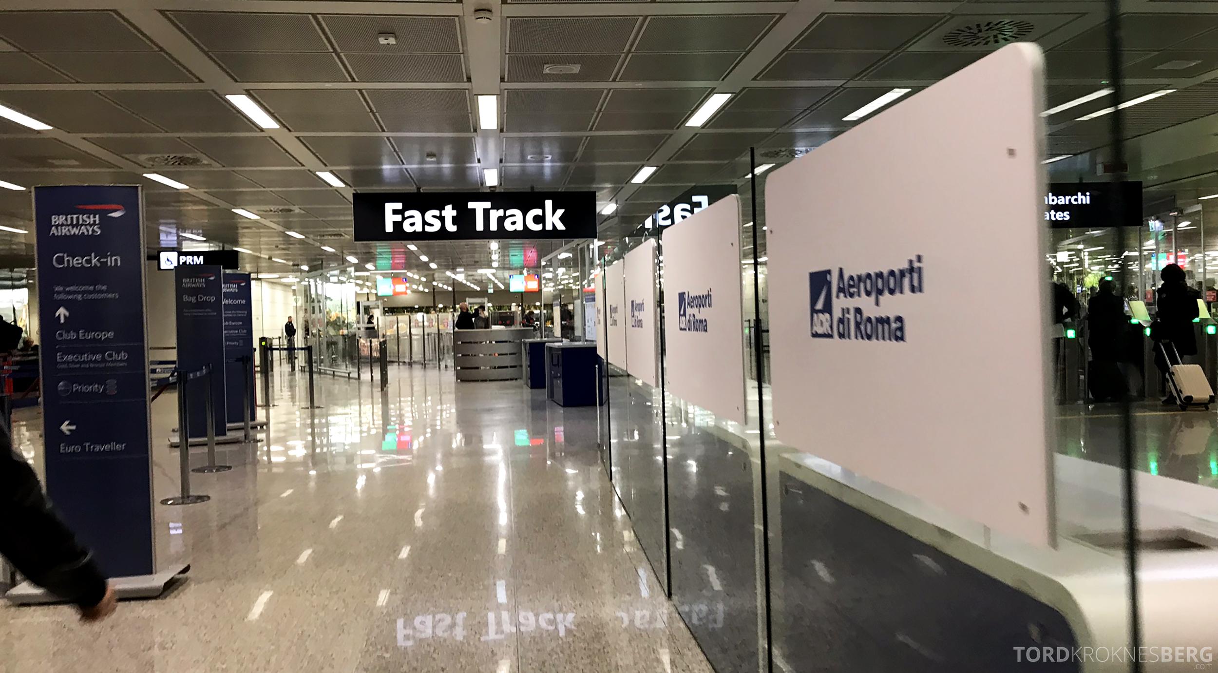 Lufthansa Business Class Rome Frankfurt Oslo fast track