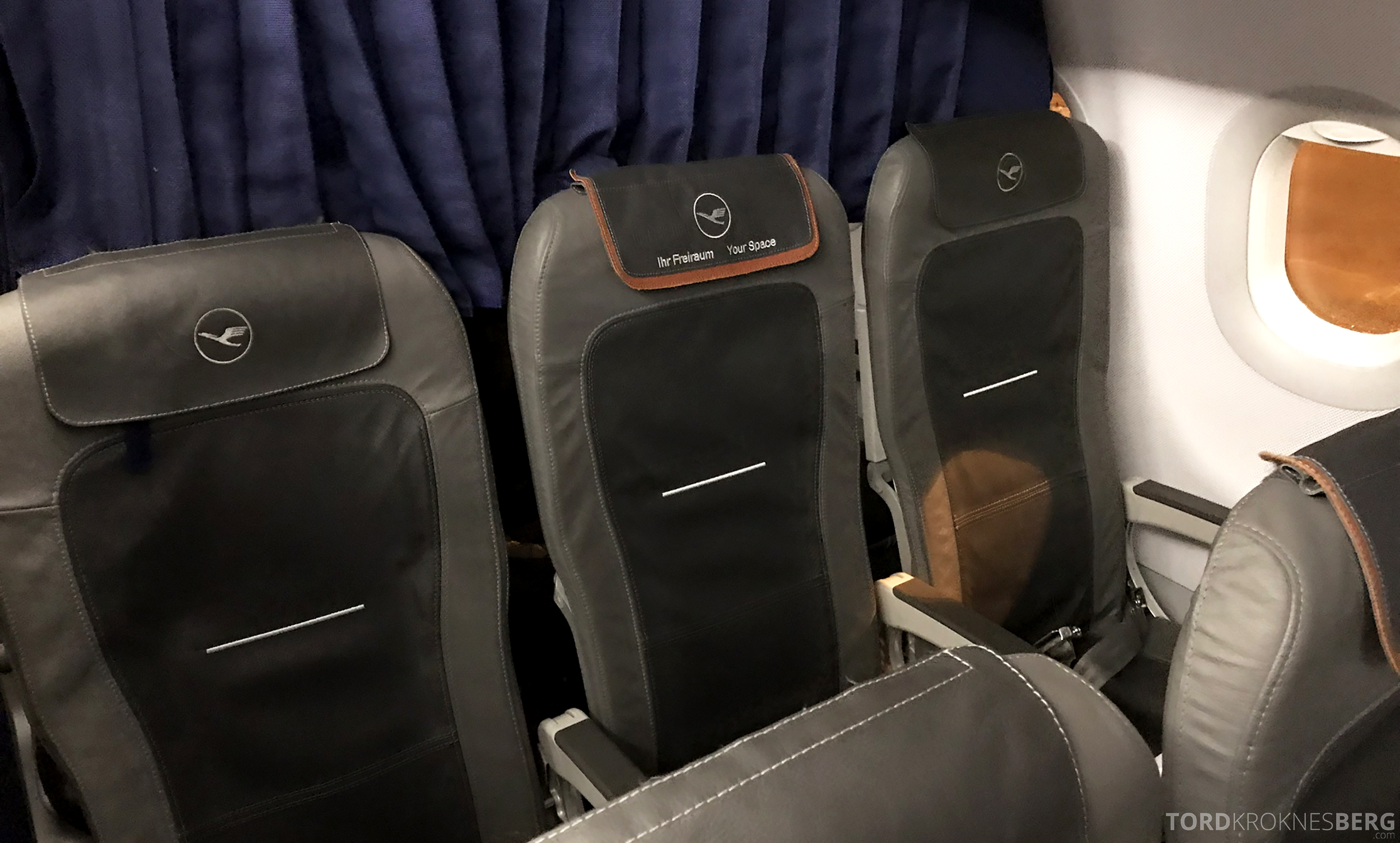 Lufthansa Business Class Rome Frankfurt Oslo seter