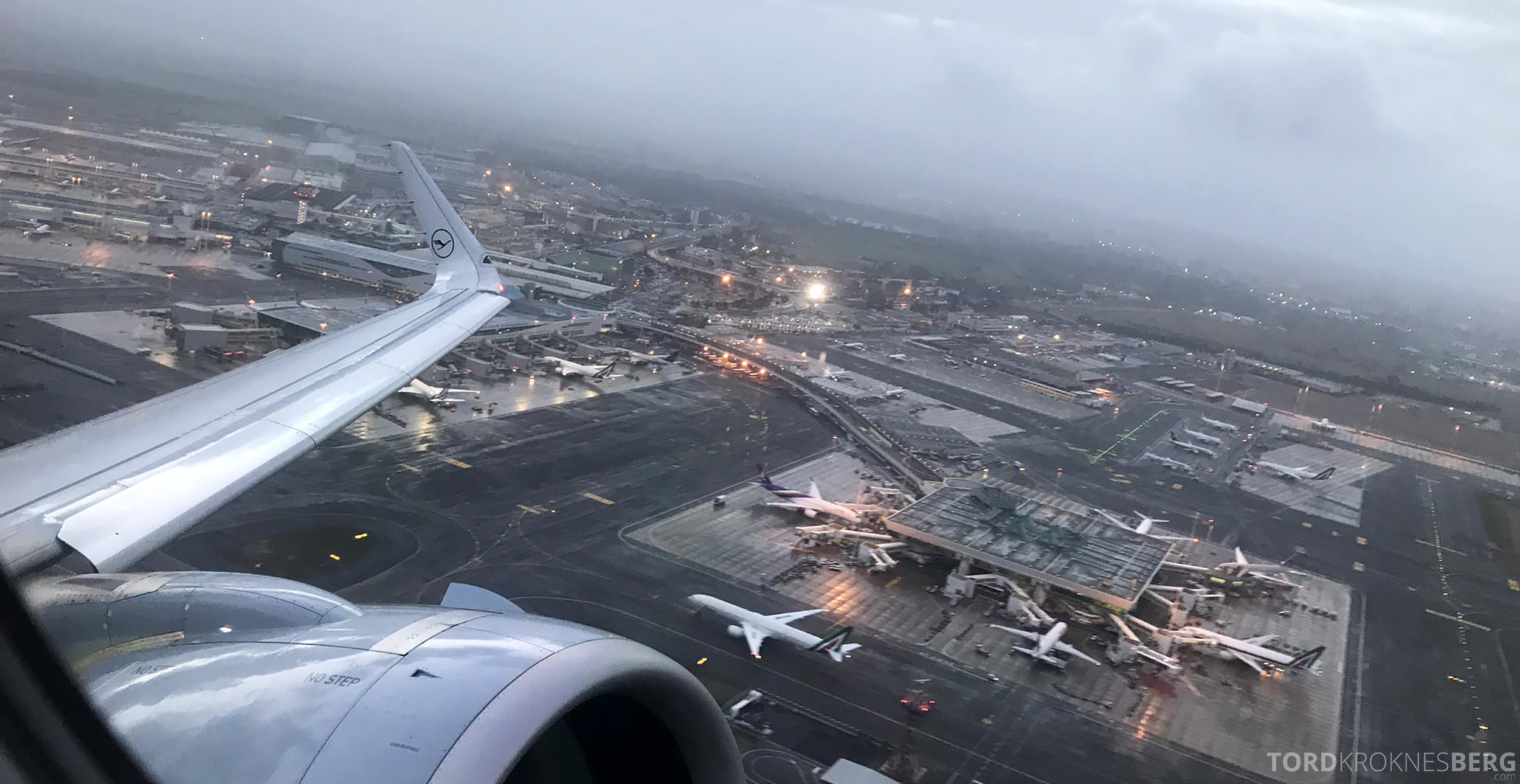 Lufthansa Business Class Rome Frankfurt Oslo flyplass