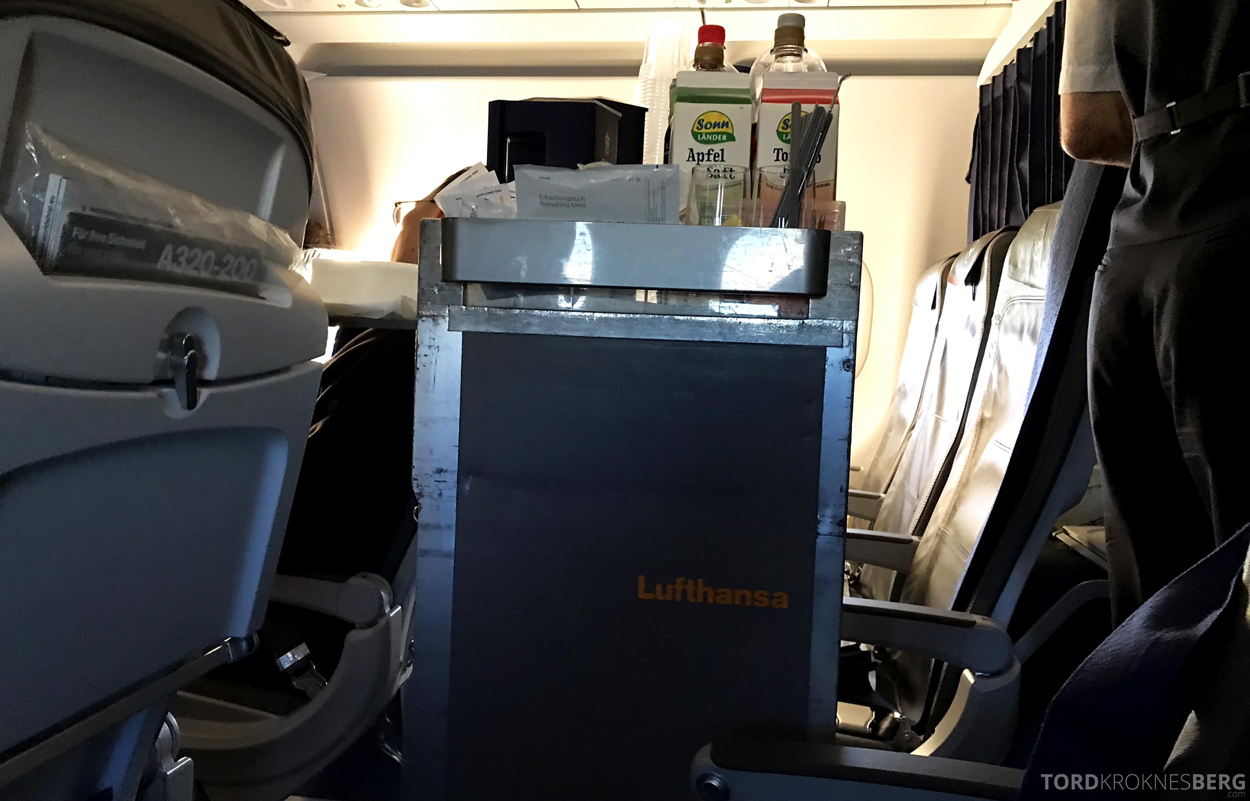 Lufthansa Business Class Rome Frankfurt Oslo tralle