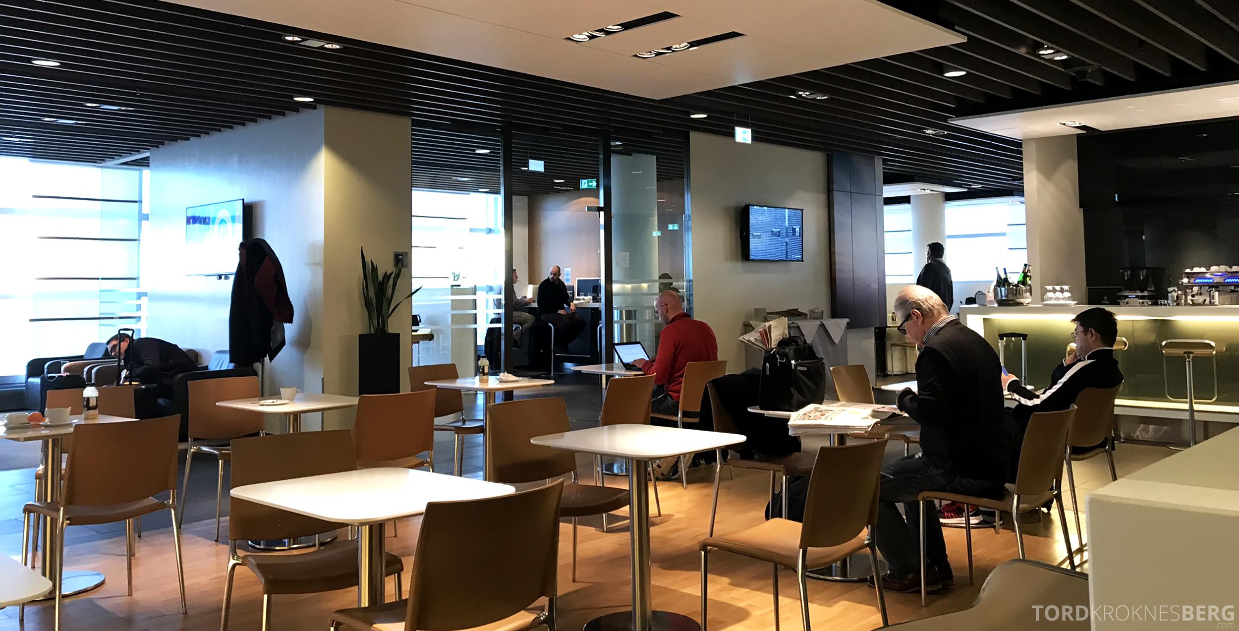Lufthansa Business Lounge Frankfurt kantine