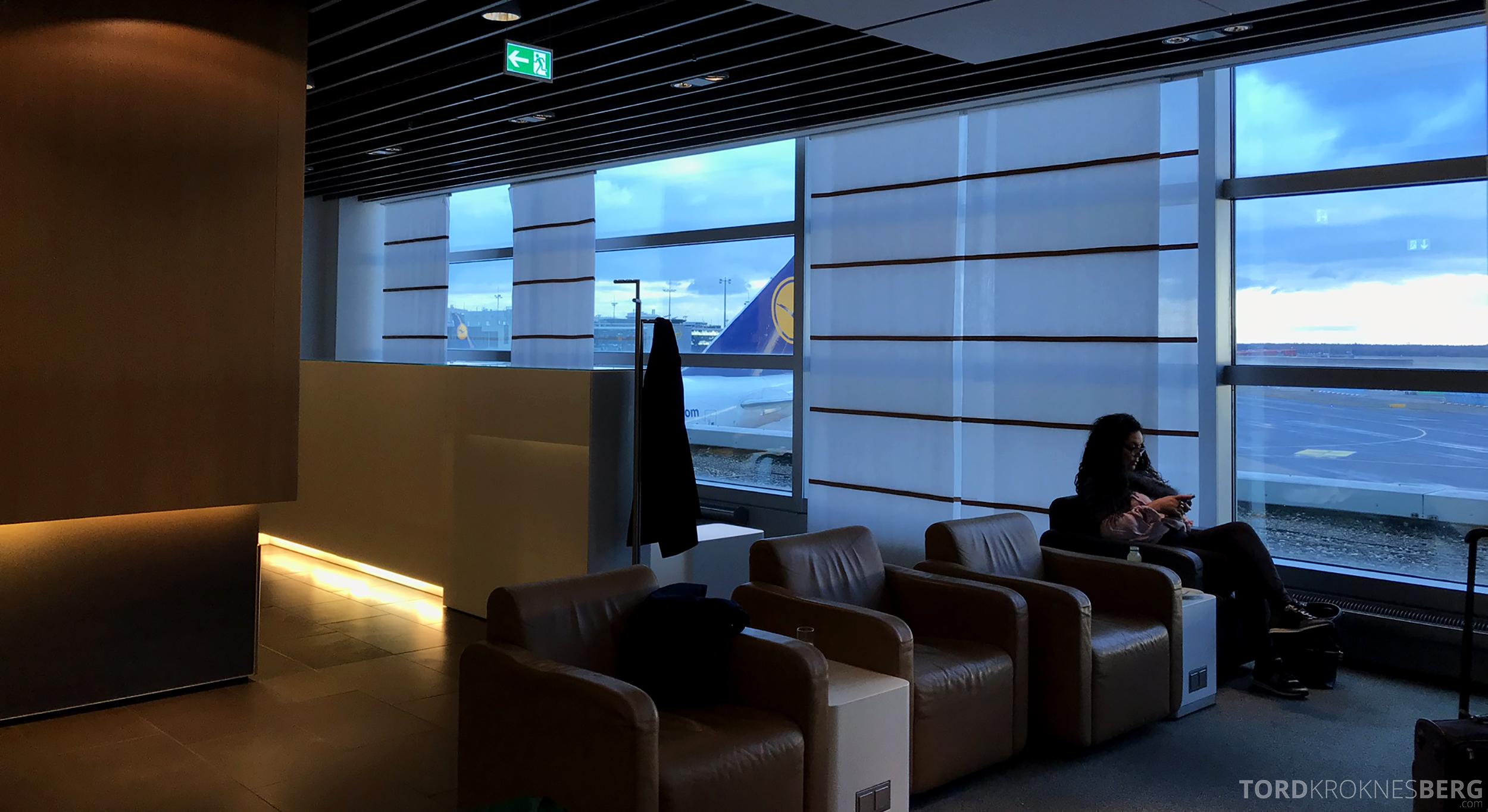 Lufthansa Business Lounge Frankfurt sitteplasser