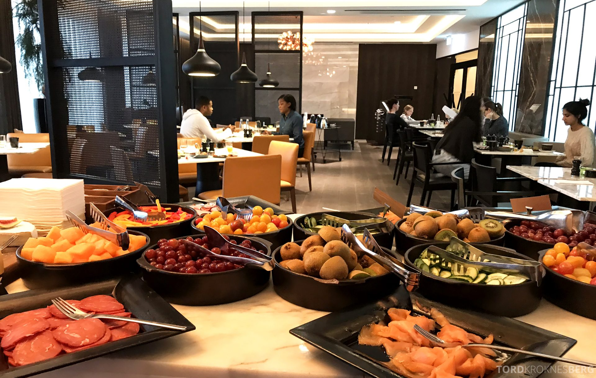 Marriott Copenhagen Hotel Executive Lounge utsikt frokostbuffet