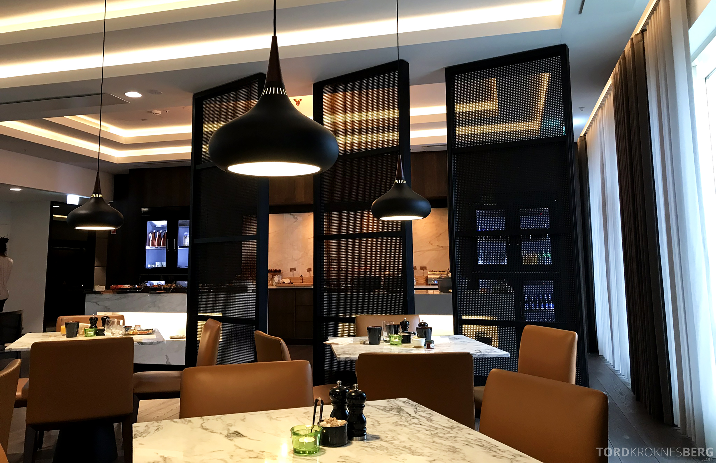 Marriott Copenhagen Hotel Executive Lounge utsikt mot buffet