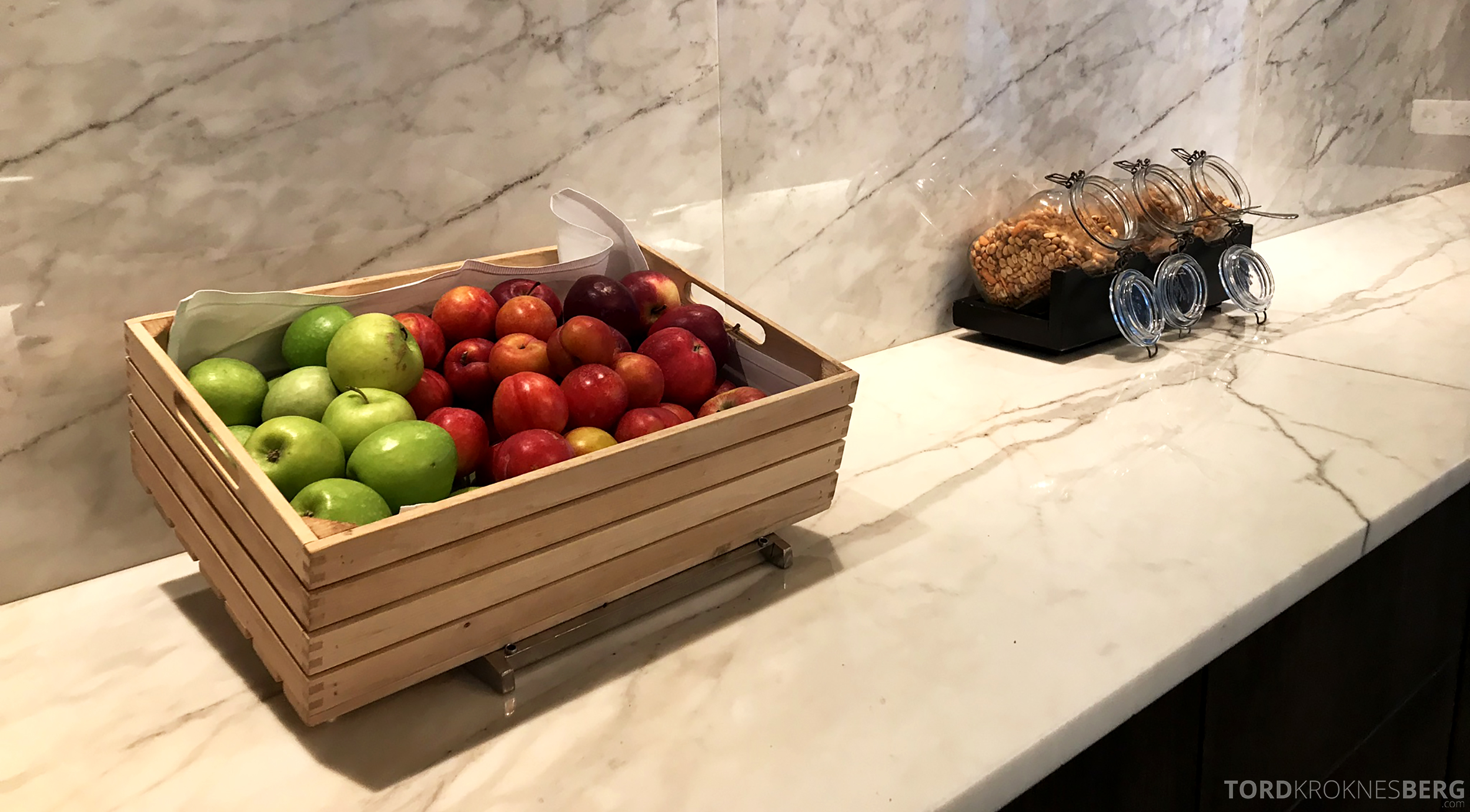Marriott Copenhagen Hotel Executive Lounge epler og snacks