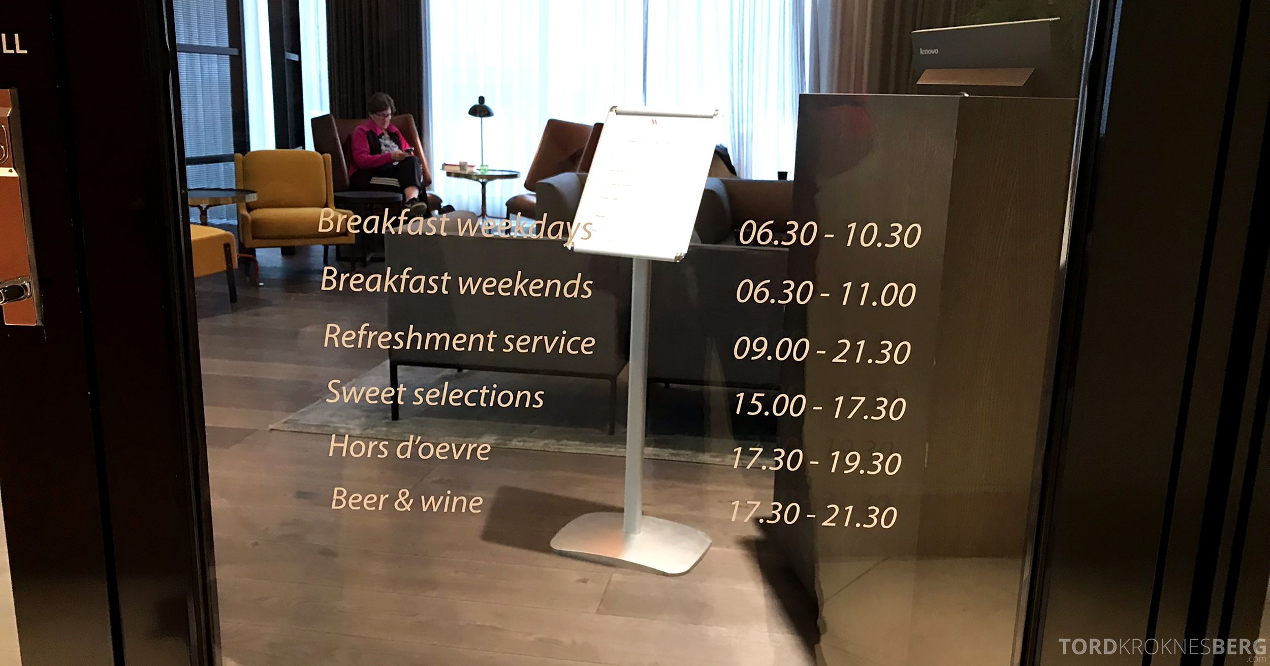 Marriott Copenhagen Hotel Executive Lounge serveringer
