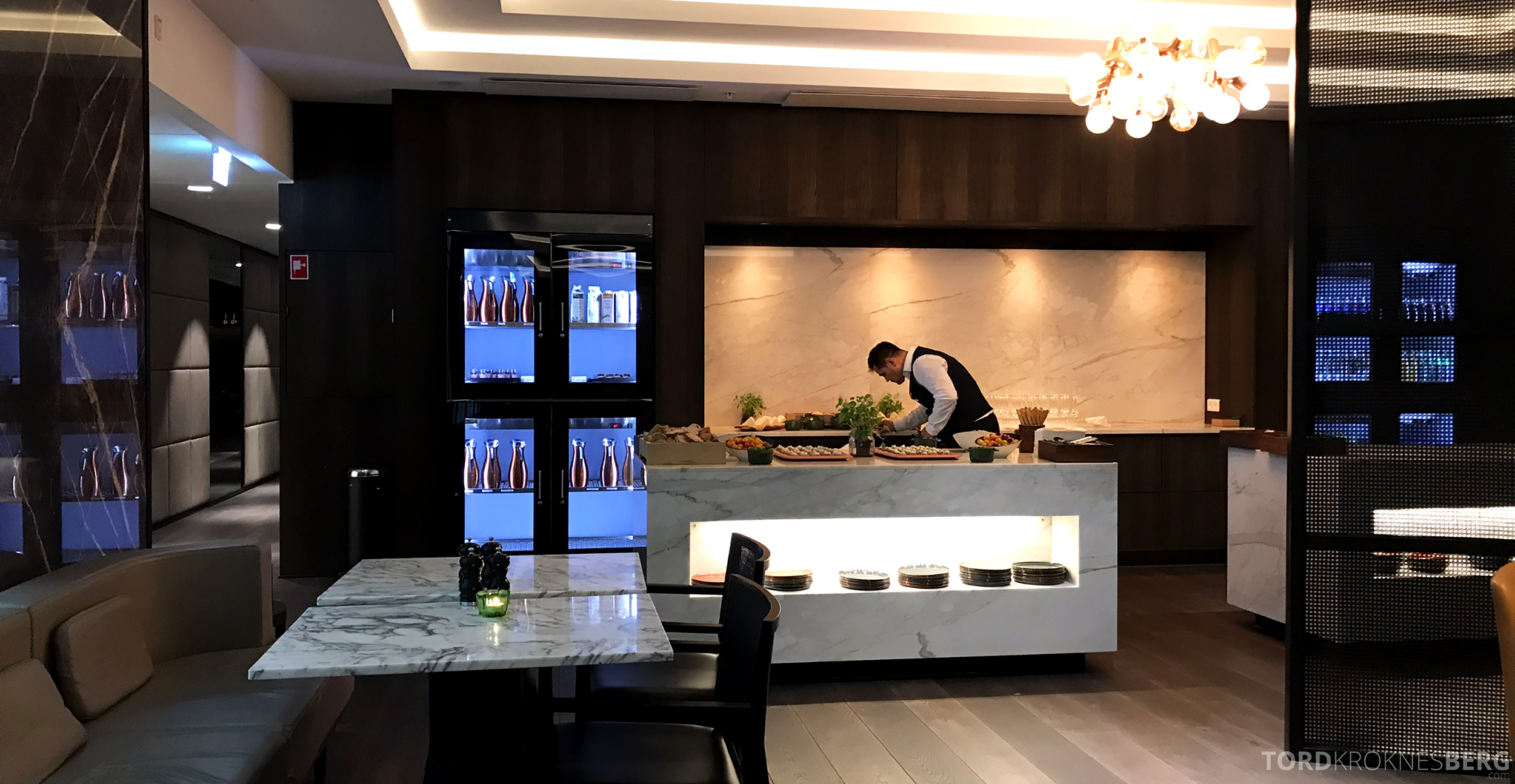 Marriott Copenhagen Hotel Executive Lounge hors d'oeuvre forberedelser