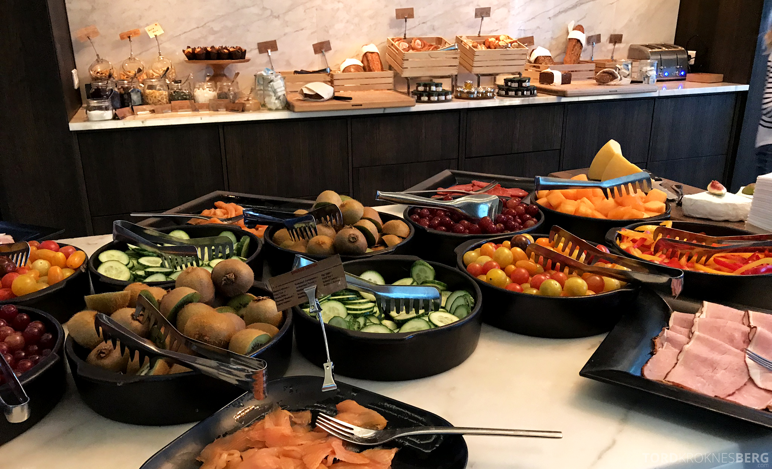 Marriott Copenhagen Hotel Executive Lounge frokostbuffet