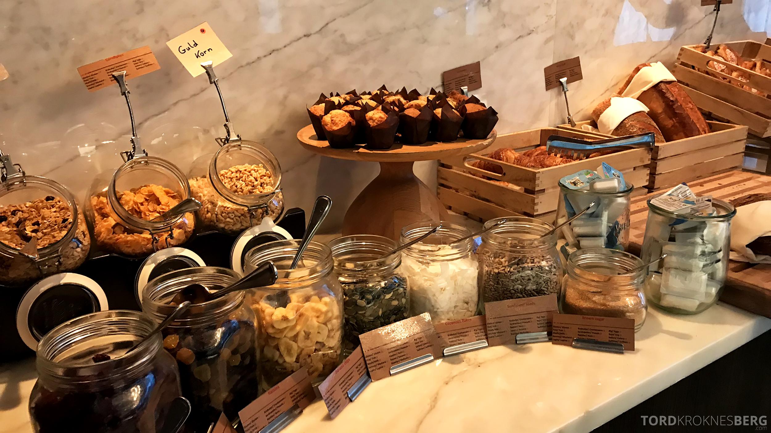 Marriott Copenhagen Hotel Executive Lounge frokost bakst