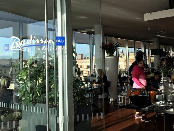 Radisson Blu Rome Hotel frokostsal innenfra
