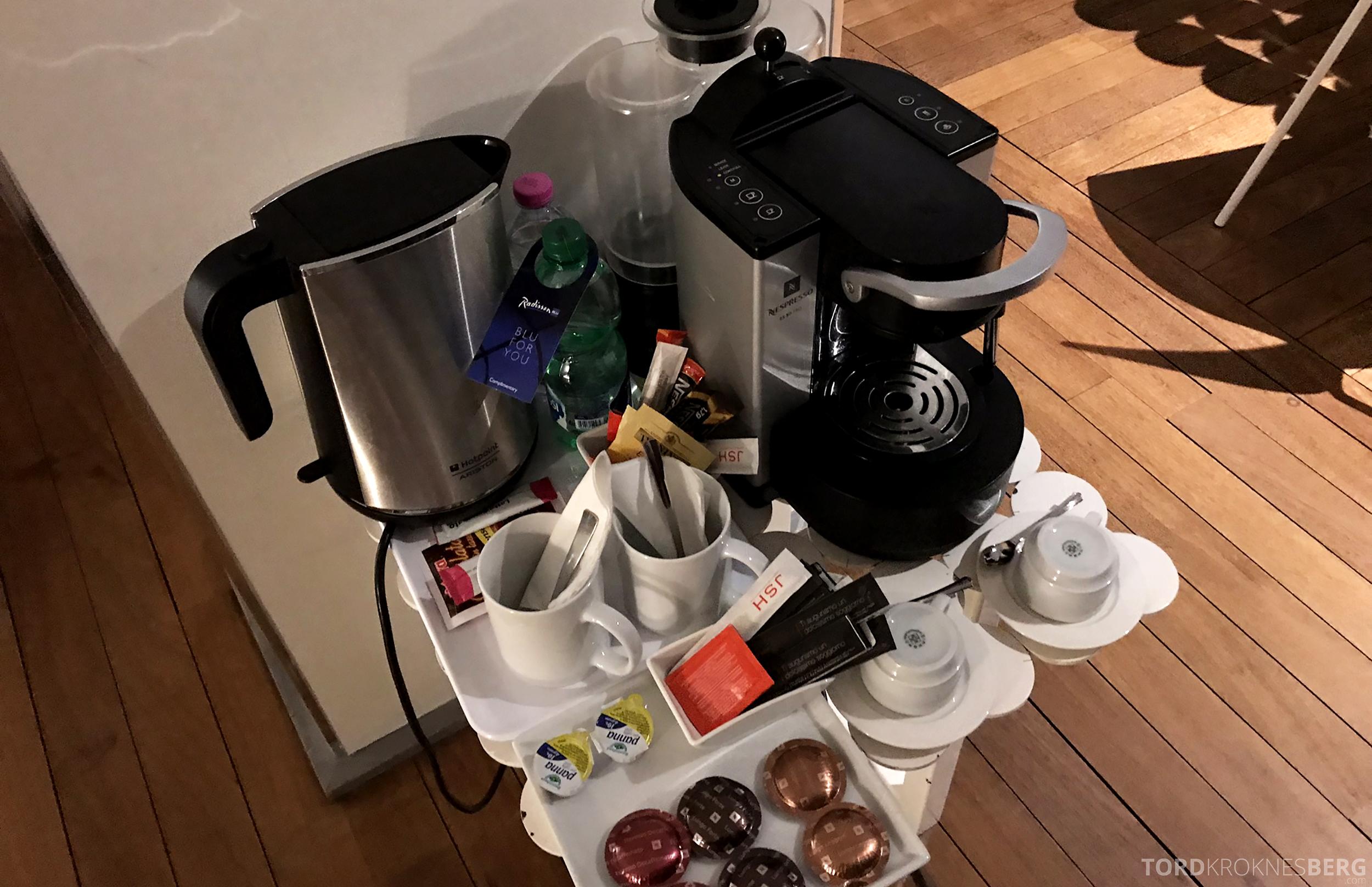 Radisson Blu Rome Hotel kaffe og te