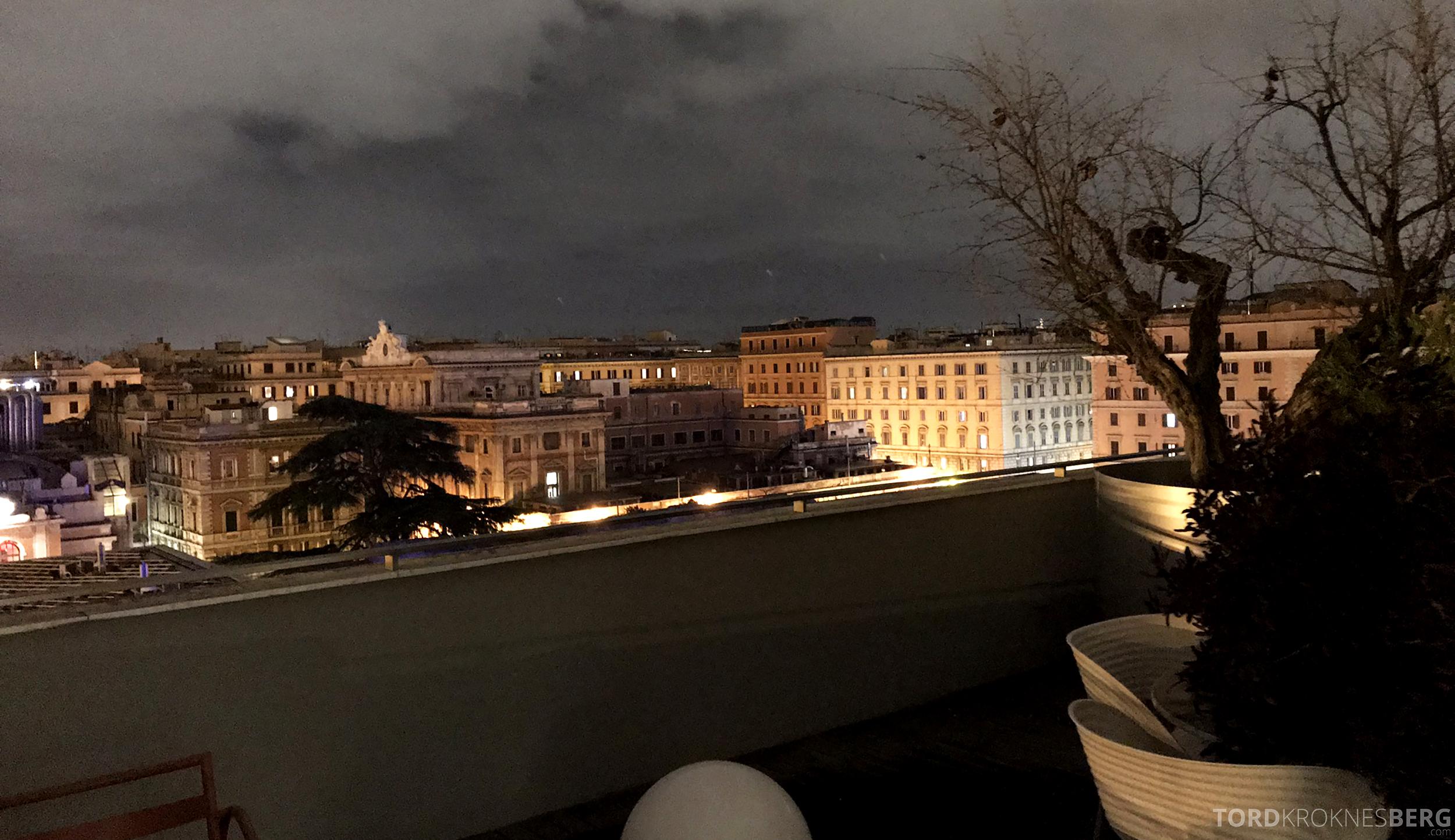 Radisson Blu Rome Hotel utsikt kveld