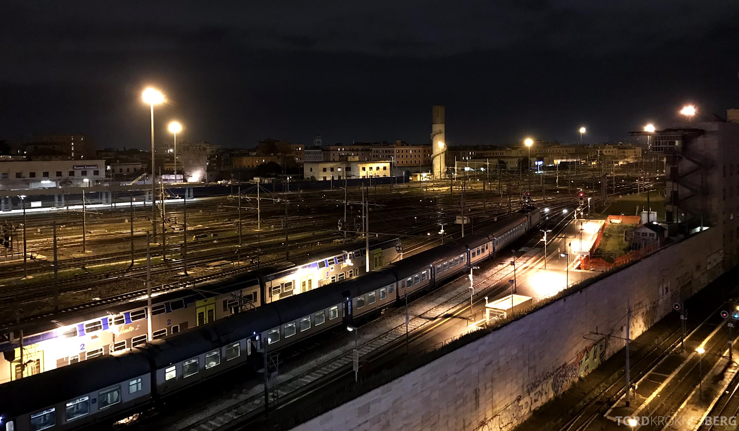 Radisson Blu Rome Hotel utsikt sentralbanestasjon
