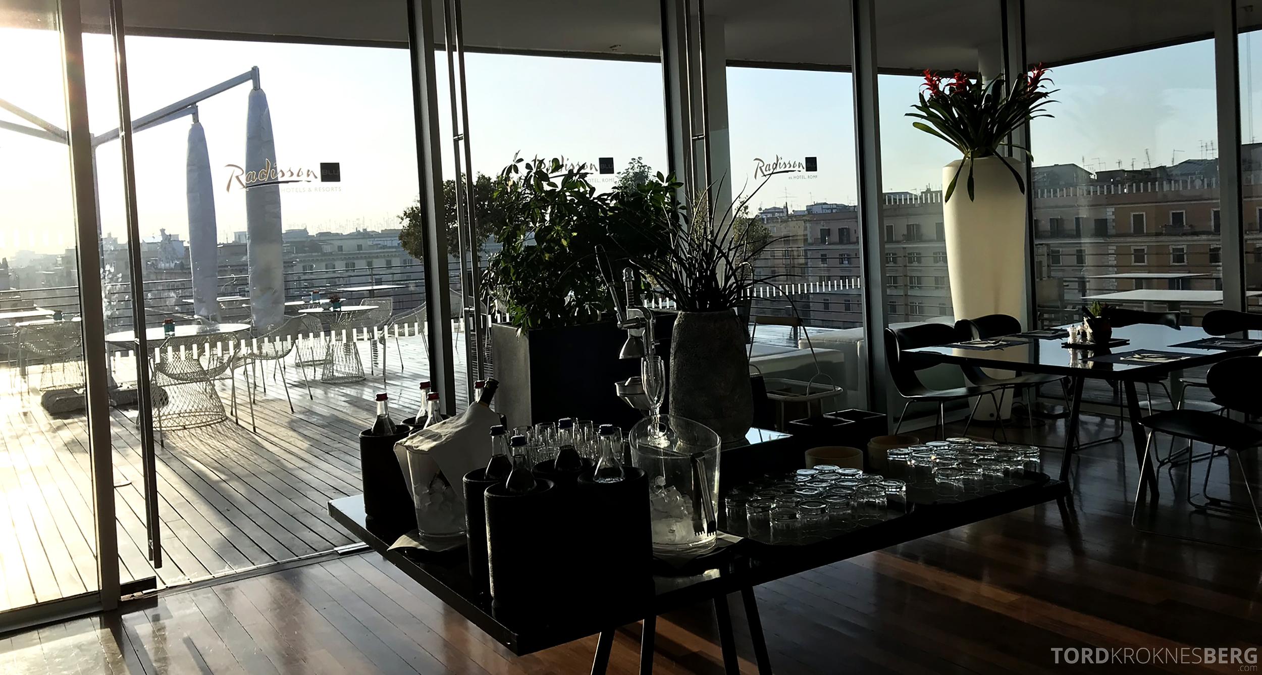 Radisson Blu Rome Hotel utsikt frokost