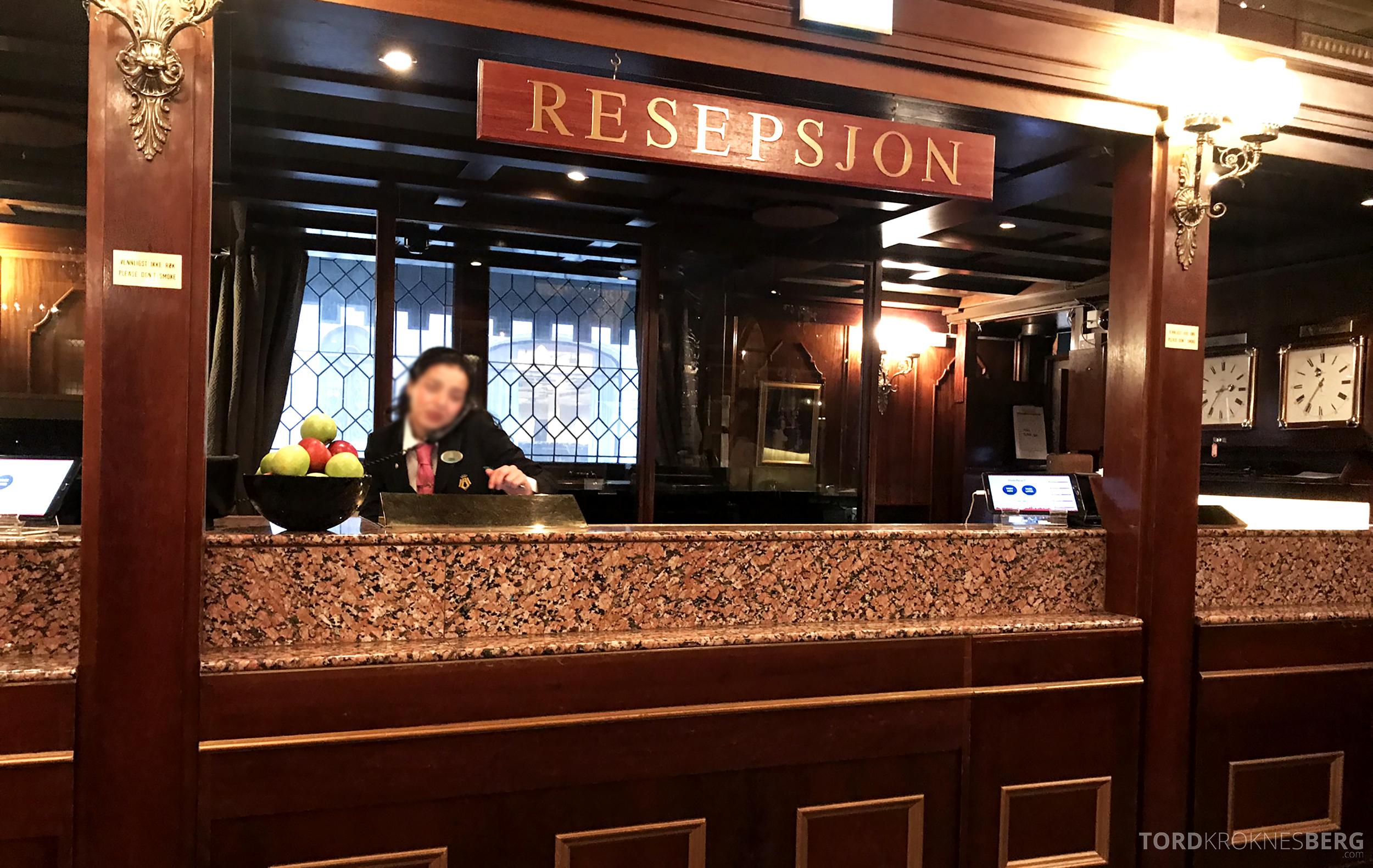 Thon Hotel Bristol Oslo resepsjon