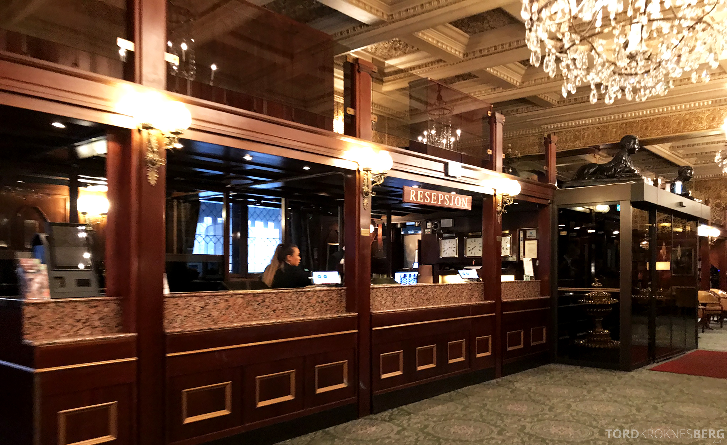 Thon Hotel Bristol Oslo resepsjon utsjekk