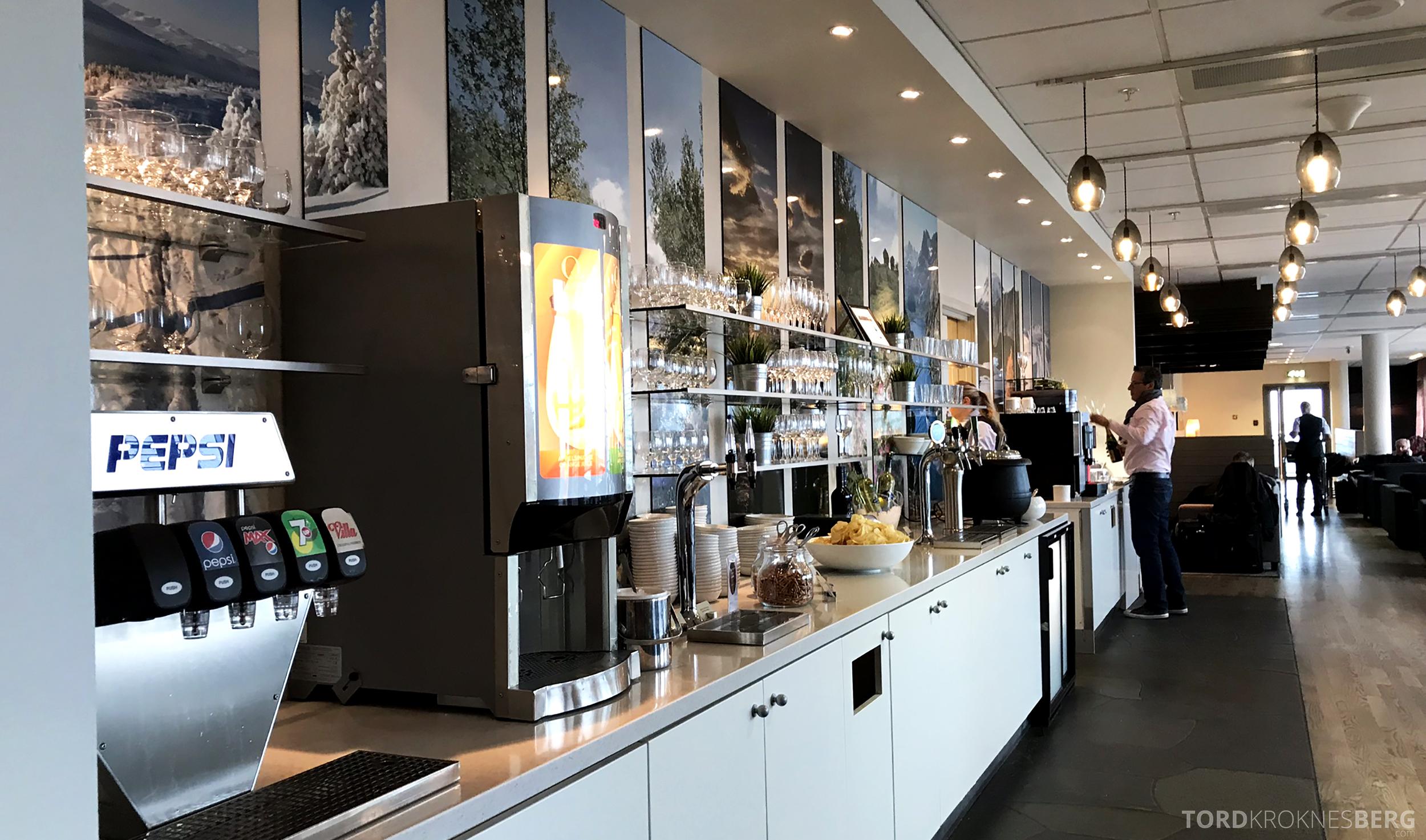 OSL Lounge Gardermoen buffet