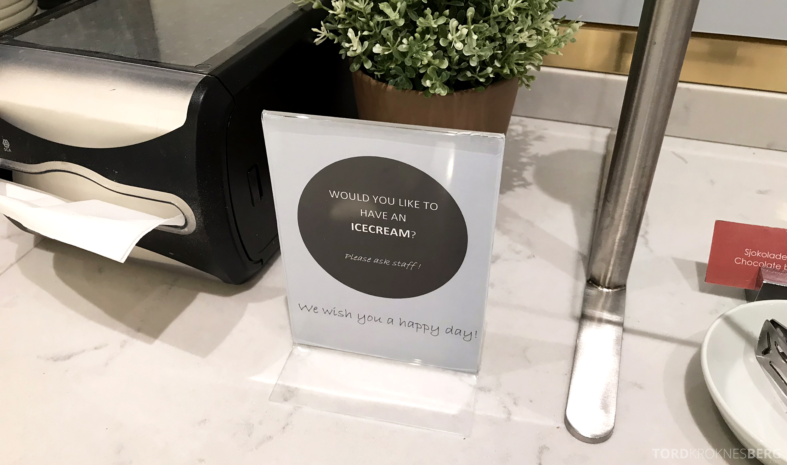 OSL Lounge Gardermoen iskrem