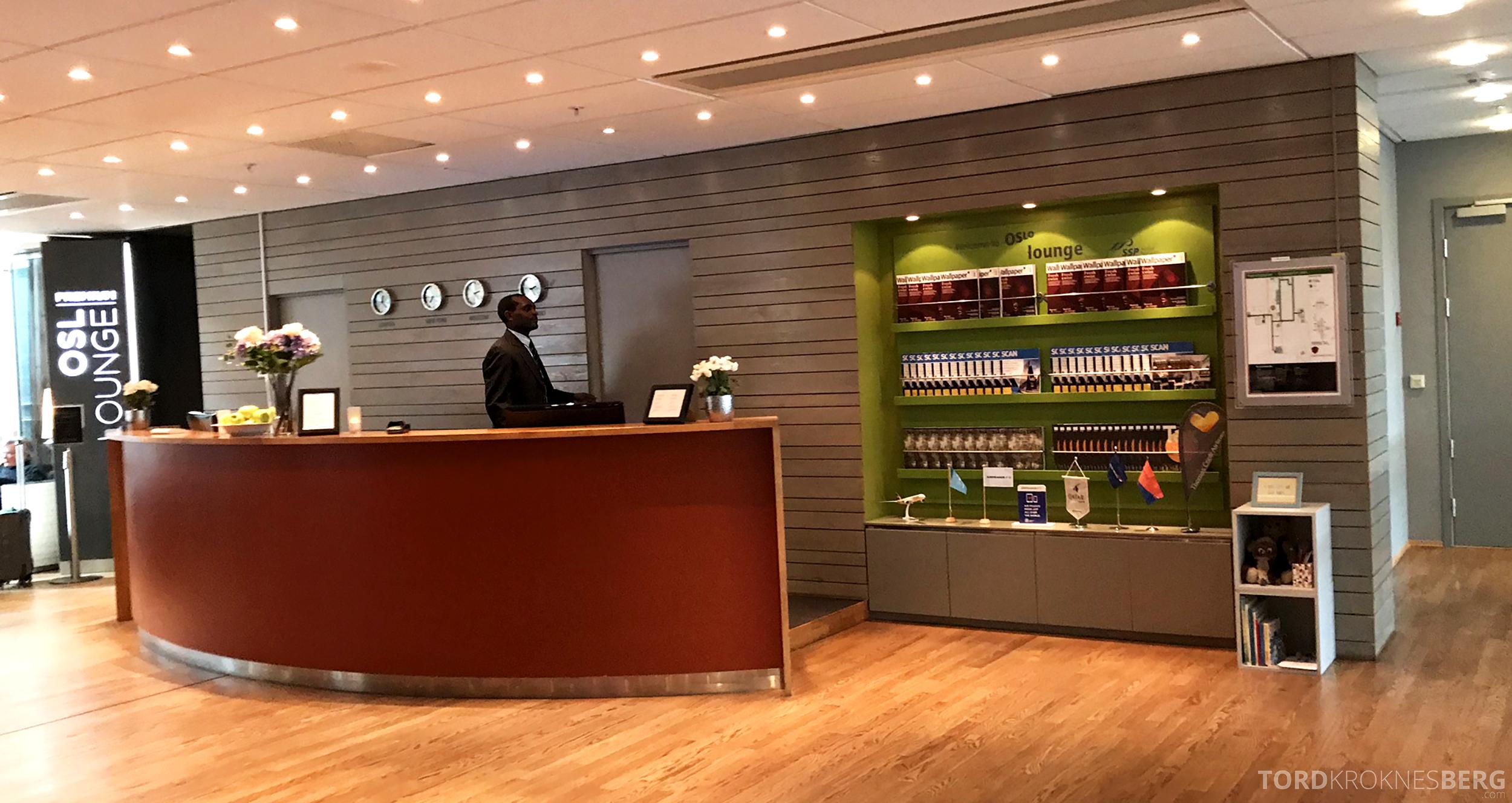 OSL Lounge Gardermoen resepsjon
