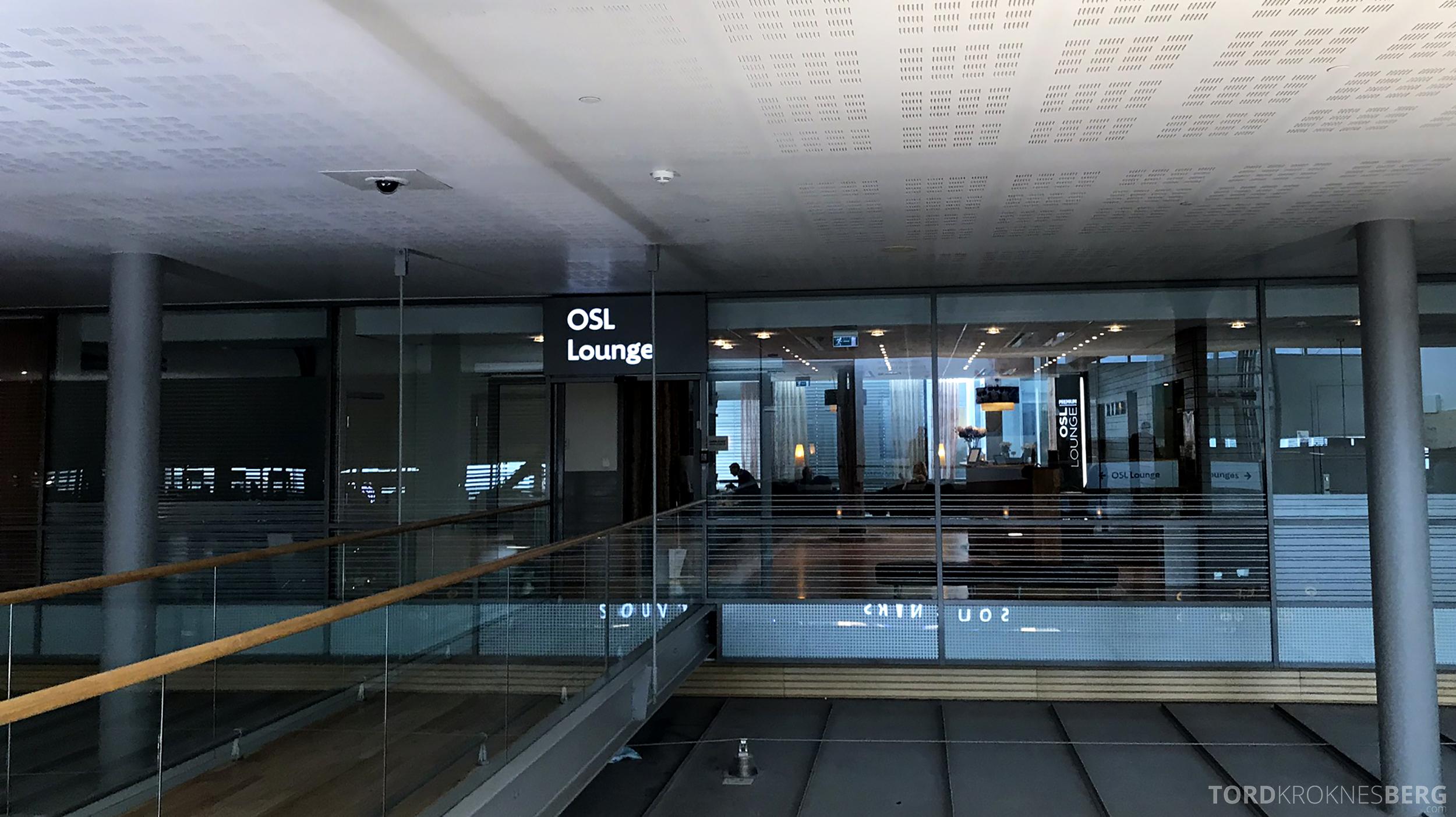 OSL Lounge Gardermoen inngang