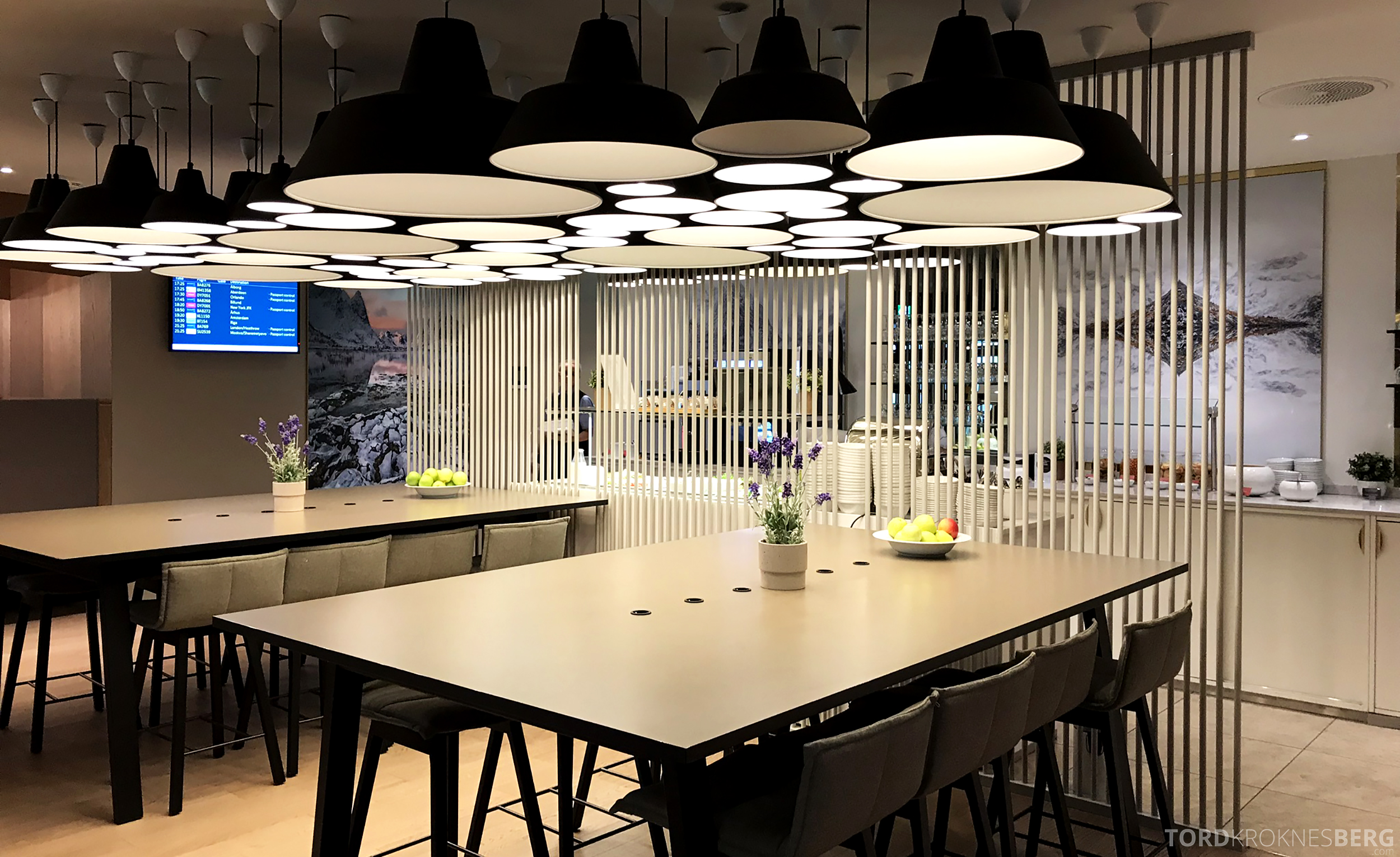 OSL Lounge Gardermoen bord