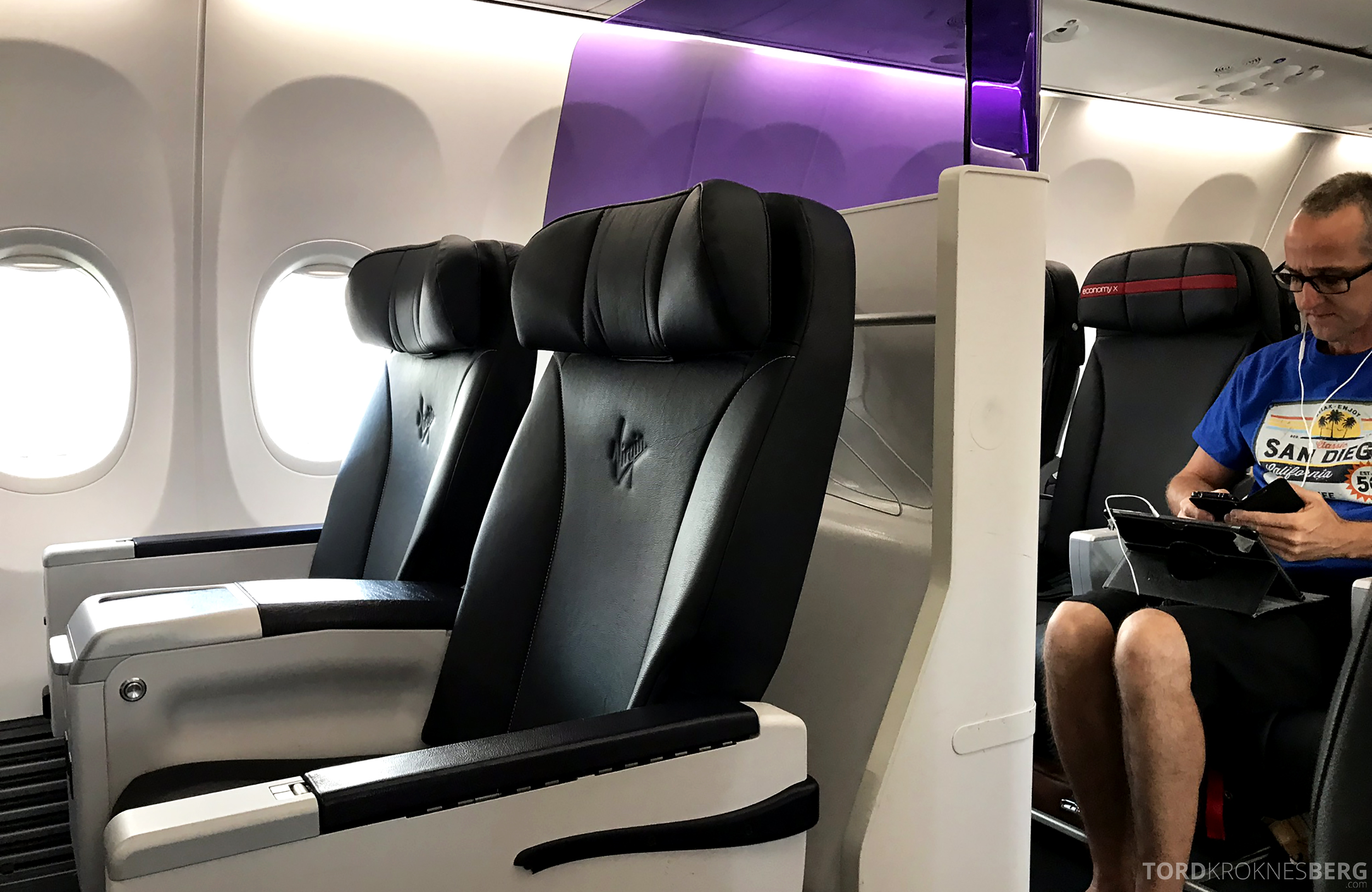 Virgin Australia Business Class Sydney Brisbane skille