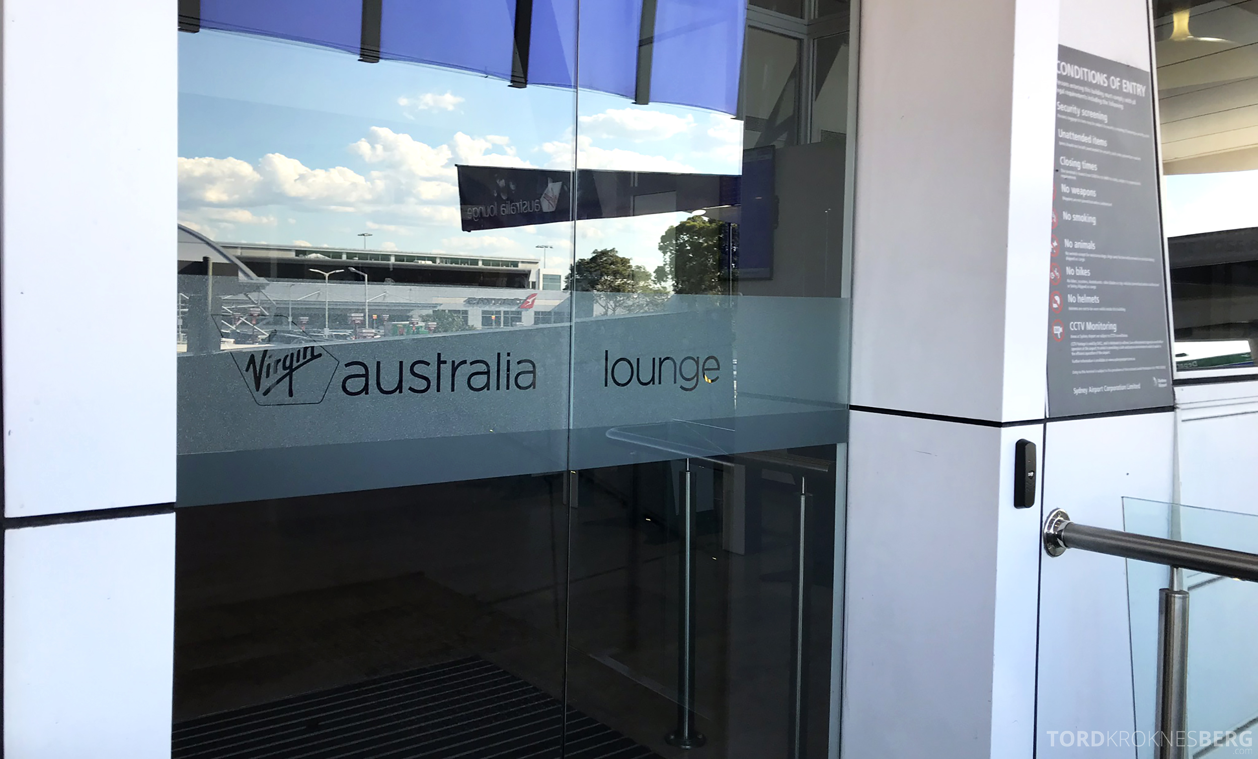 Virgin Australia Business Class Sydney Brisbane lounge