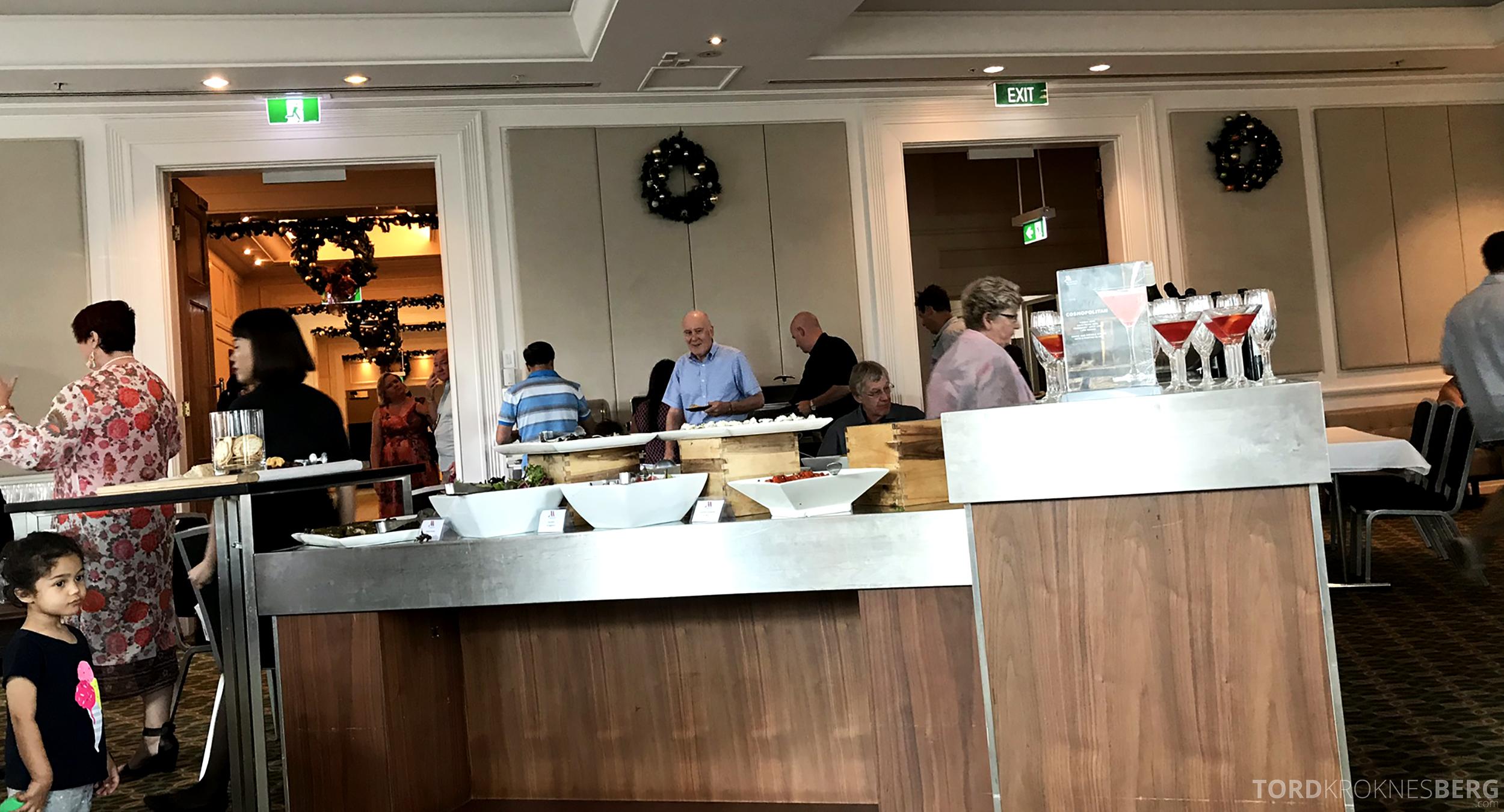 Brisbane Marriott Hotel Executive Lounge buffet ballrom