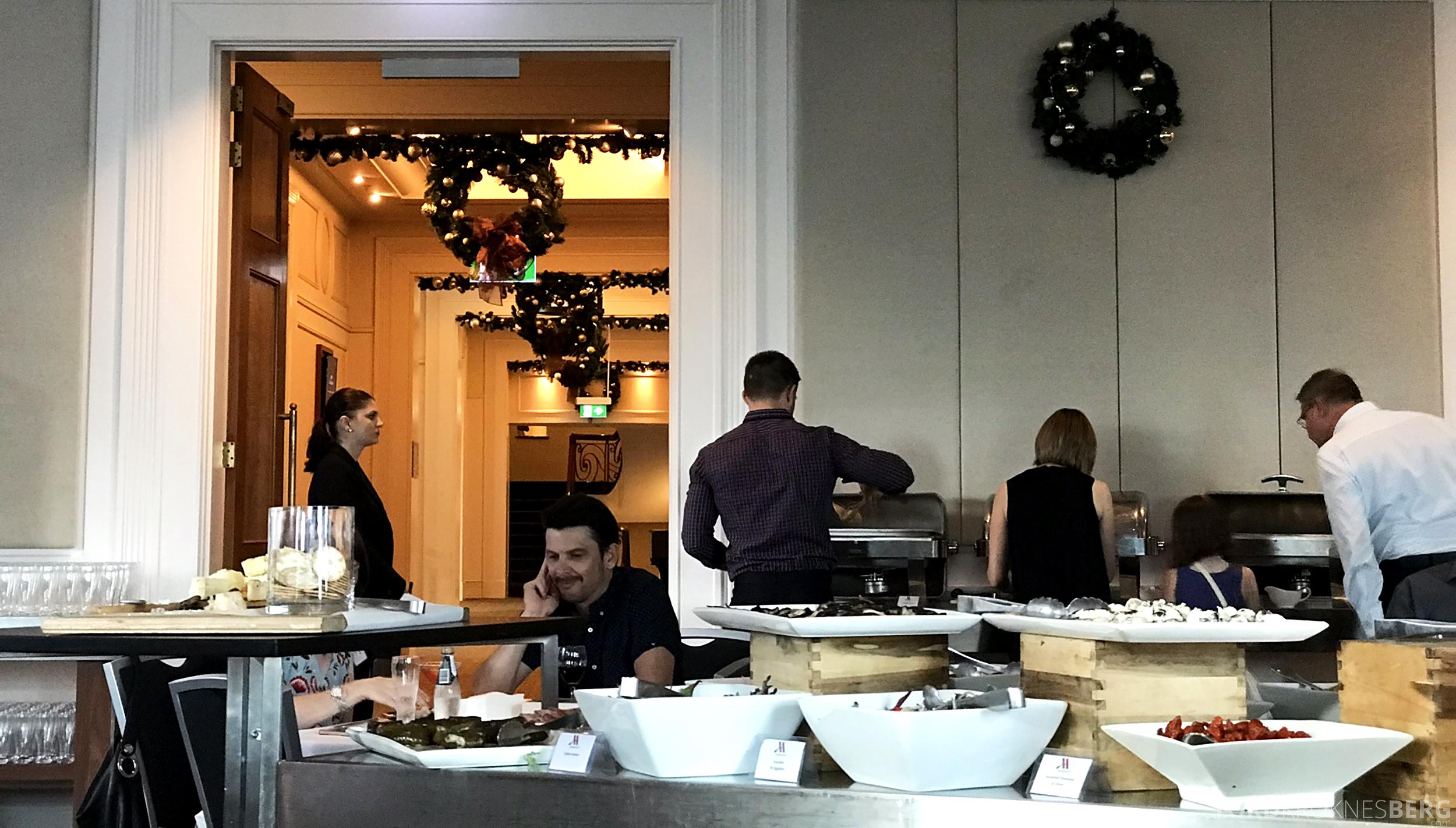 Brisbane Marriott Hotel Executive Lounge buffet
