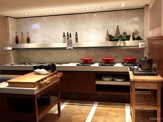 Brisbane Marriott Hotel Executive Lounge buffet hors d'oeuvre