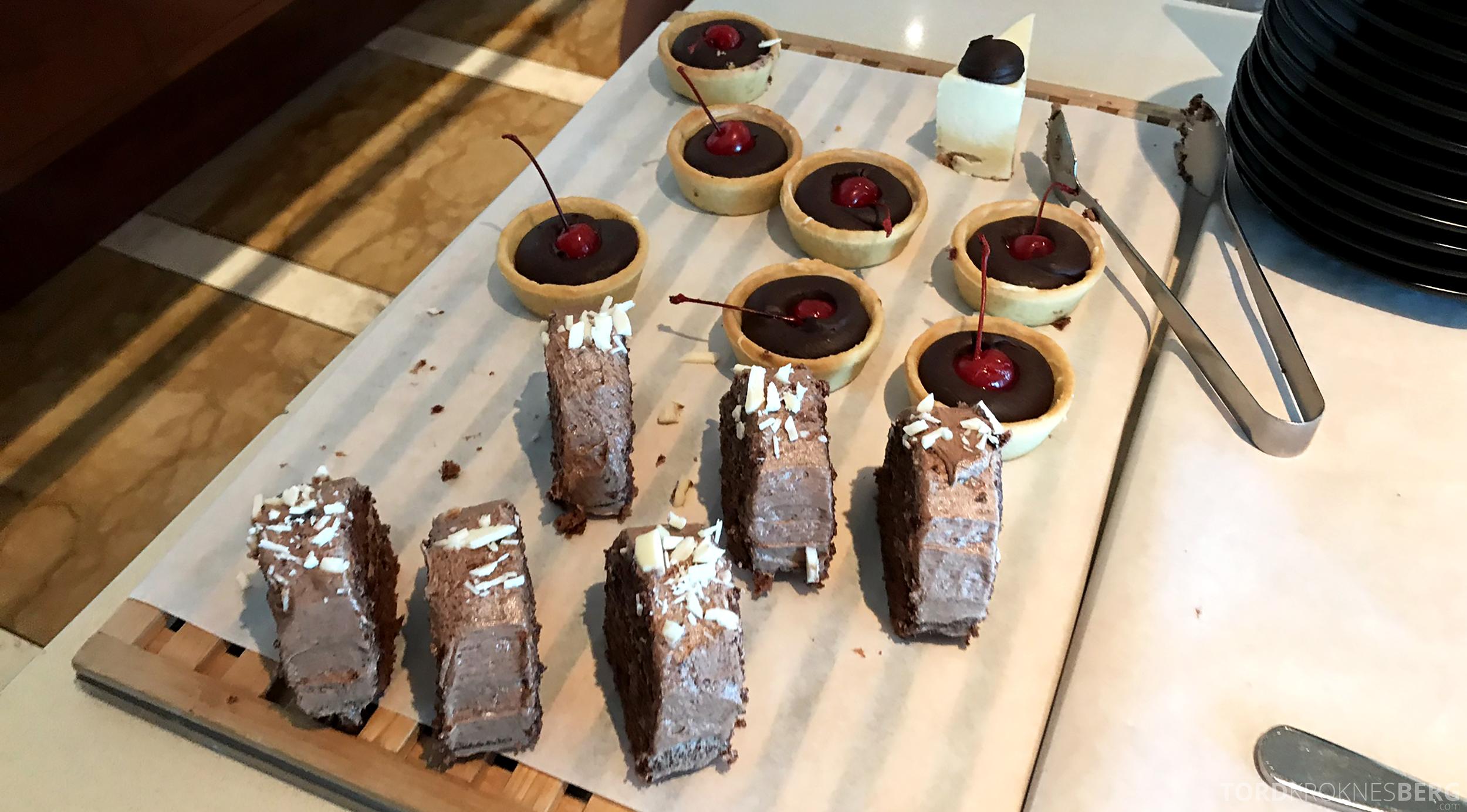 Brisbane Marriott Hotel Executive Lounge frokost kaker